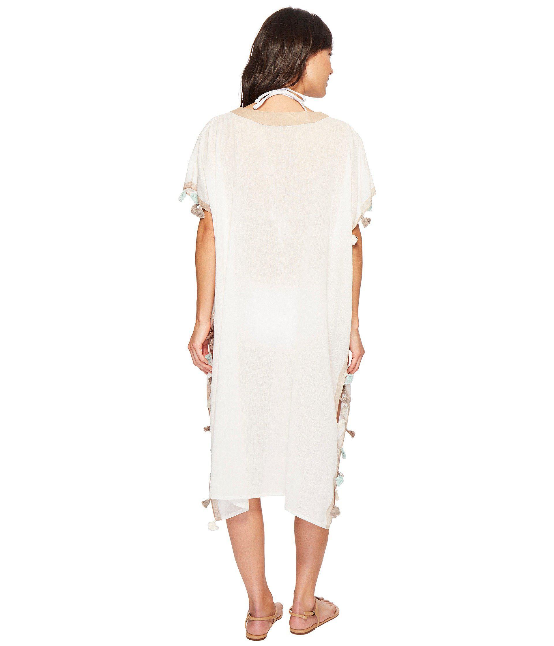 0de880ffa884 Lyst - Michael Stars Cebu Maxi Kaftan (chalk) Women's Clothing in White