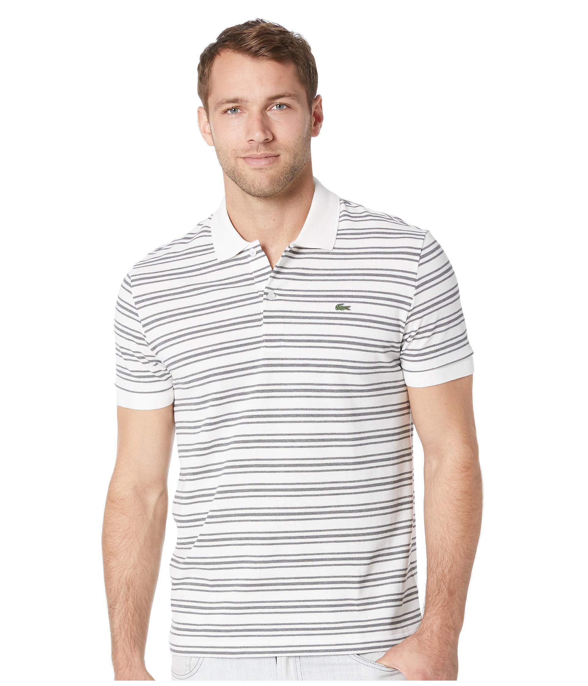 1d2d6838 Lyst - Lacoste Short Sleeve Regular Fit Petit Pique Polo W/ Fine ...