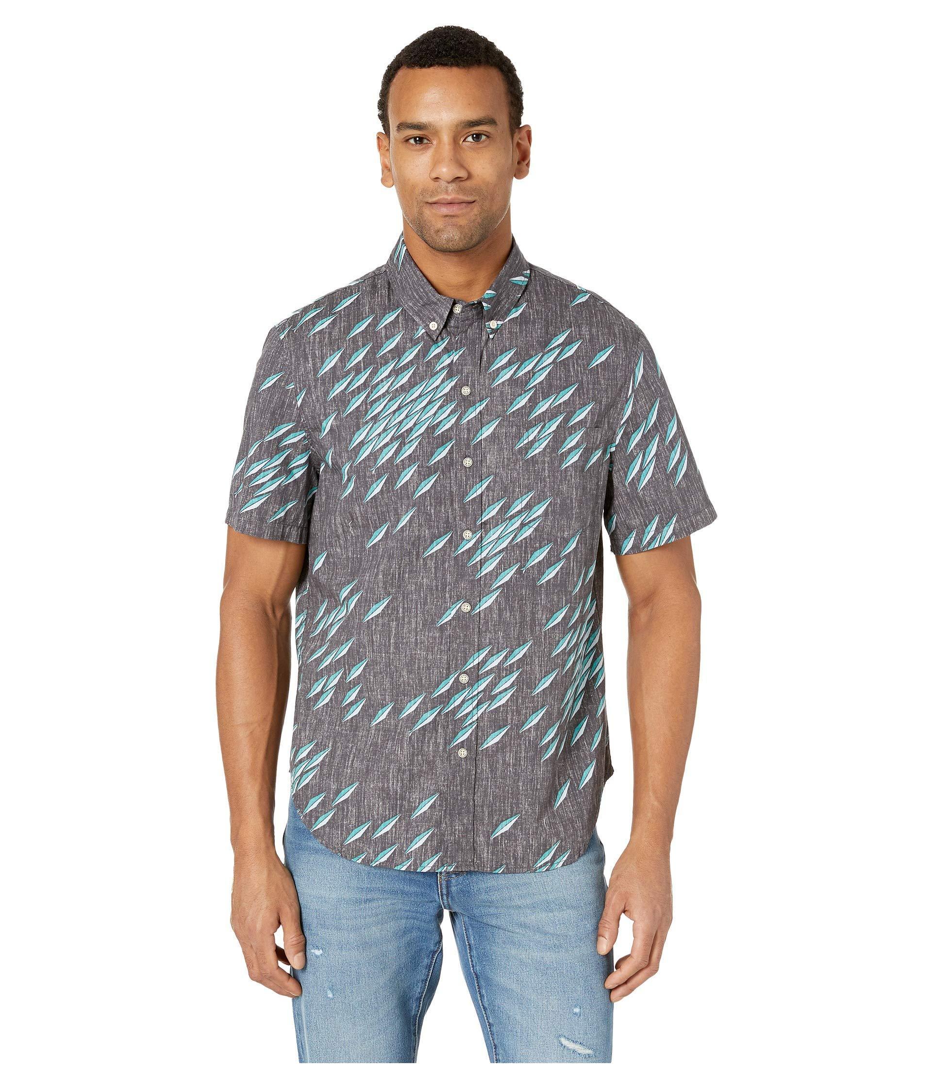 0c077f2e8ae Lyst - Reyn Spooner Fish Swarm Storm Tailored Fit Hawaiian Shirt ...