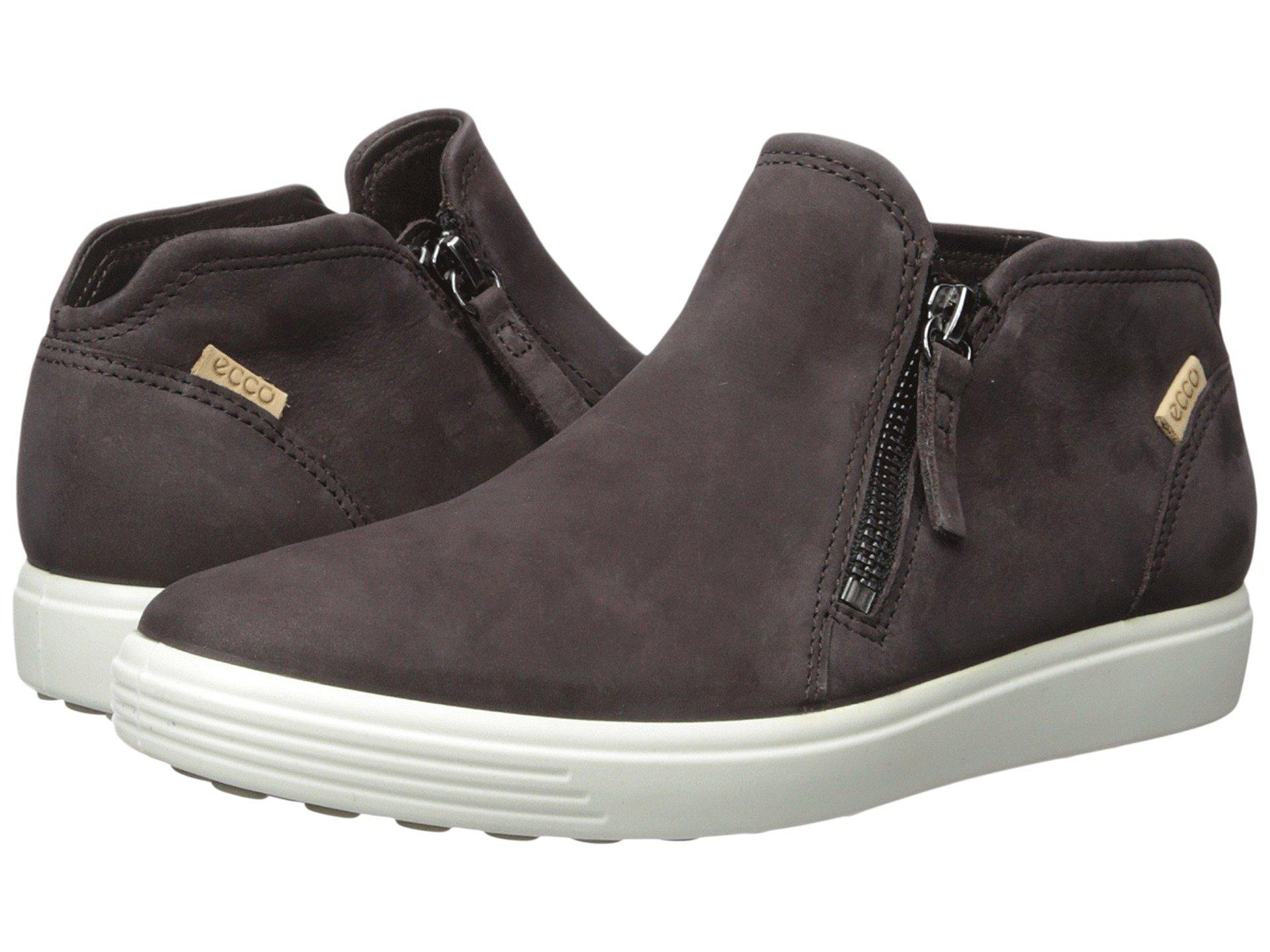 b33c6ae9beb17 Ecco Soft 7 Low Cut Zip Bootie (black Cow Leather) Women's Shoes - Lyst