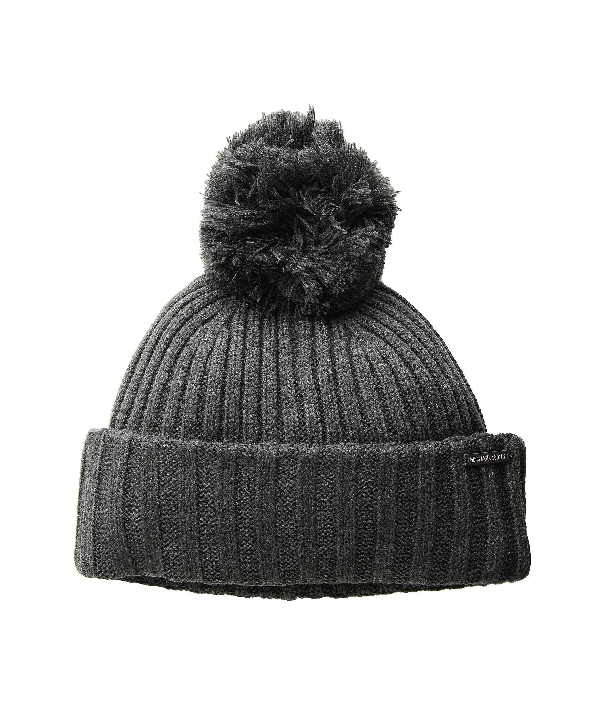 Lyst - Michael Michael Kors Rib Cuff Hat (cream gold) Cold Weather ... 5ace8f5e93a8