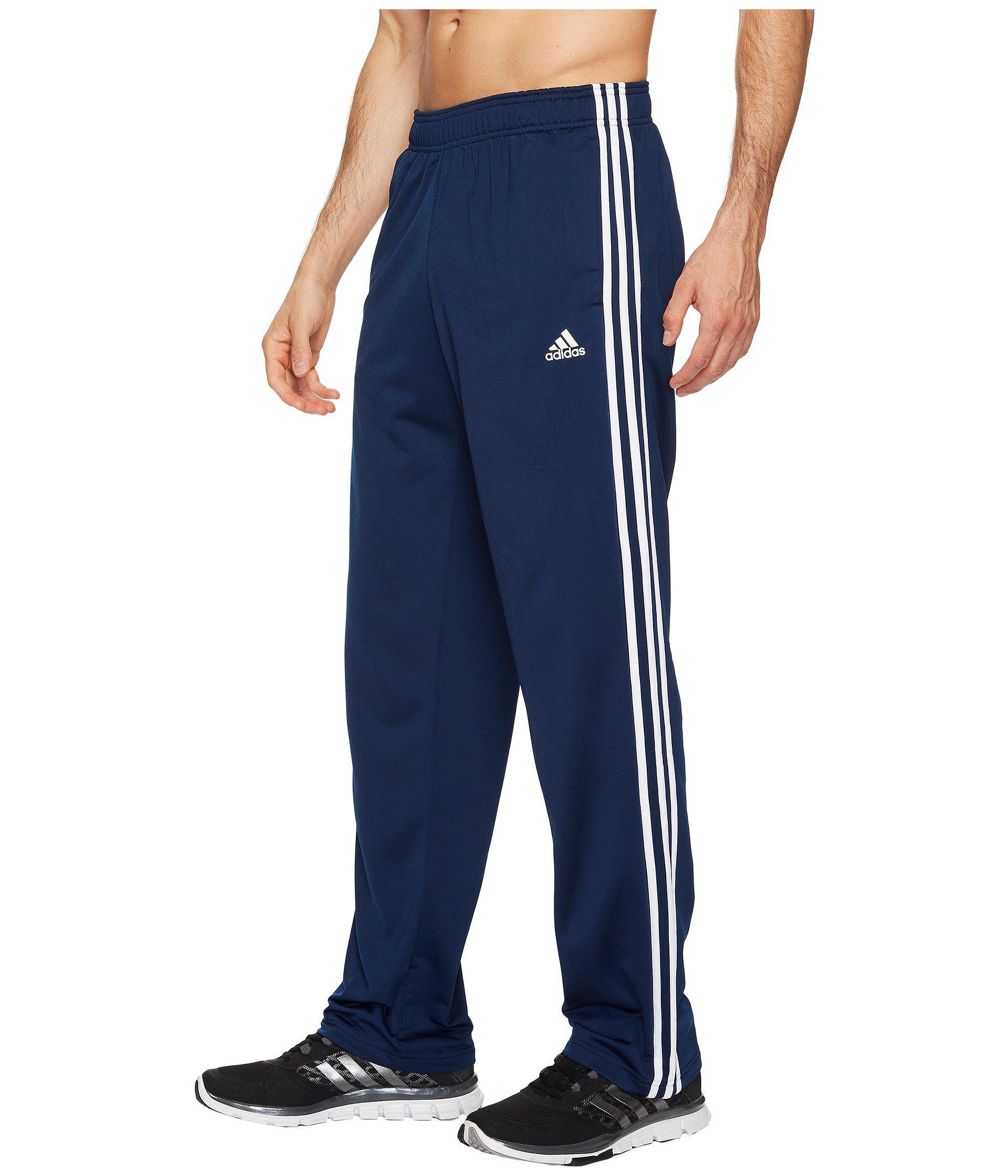 adidas. Men's Blue Essentials 3-stripes Regular Fit Tricot Pants