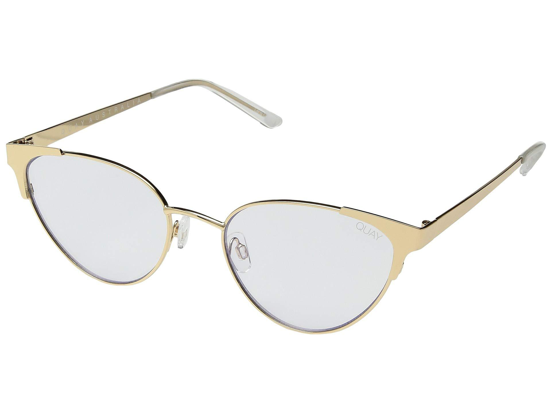 937f40f917ee5 Lyst - Quay Song Bird (gold clear Blue Light) Fashion Sunglasses in ...