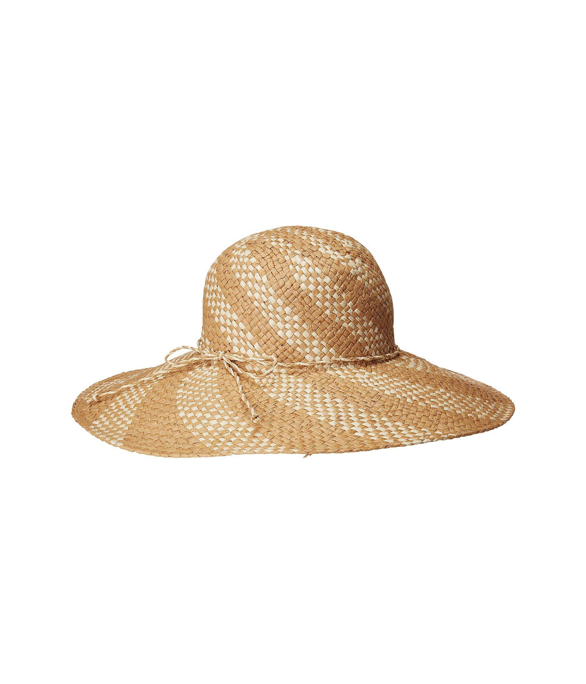 San Diego Hat Company - Pbl3089os Spiral Woven Paper Sun Brim (natural black).  View fullscreen e1411cfeb33e