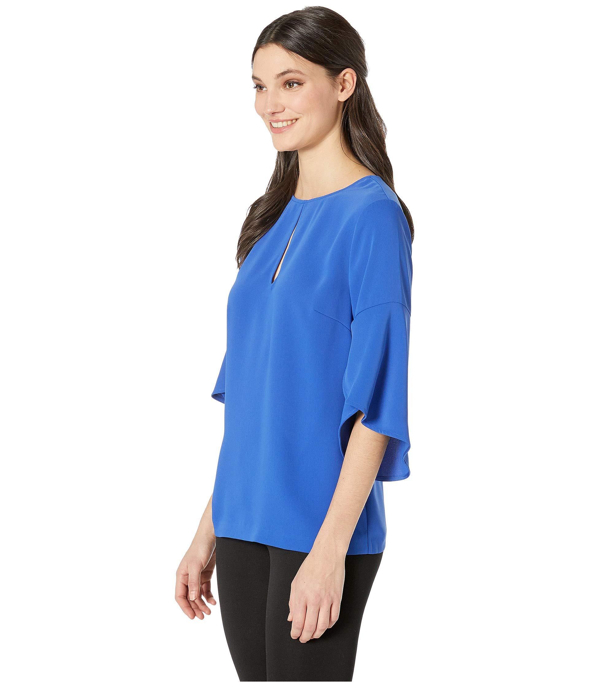 97067bfec10 Lyst - Trina Turk Signature Top (night Swimming) Women s Blouse in Blue