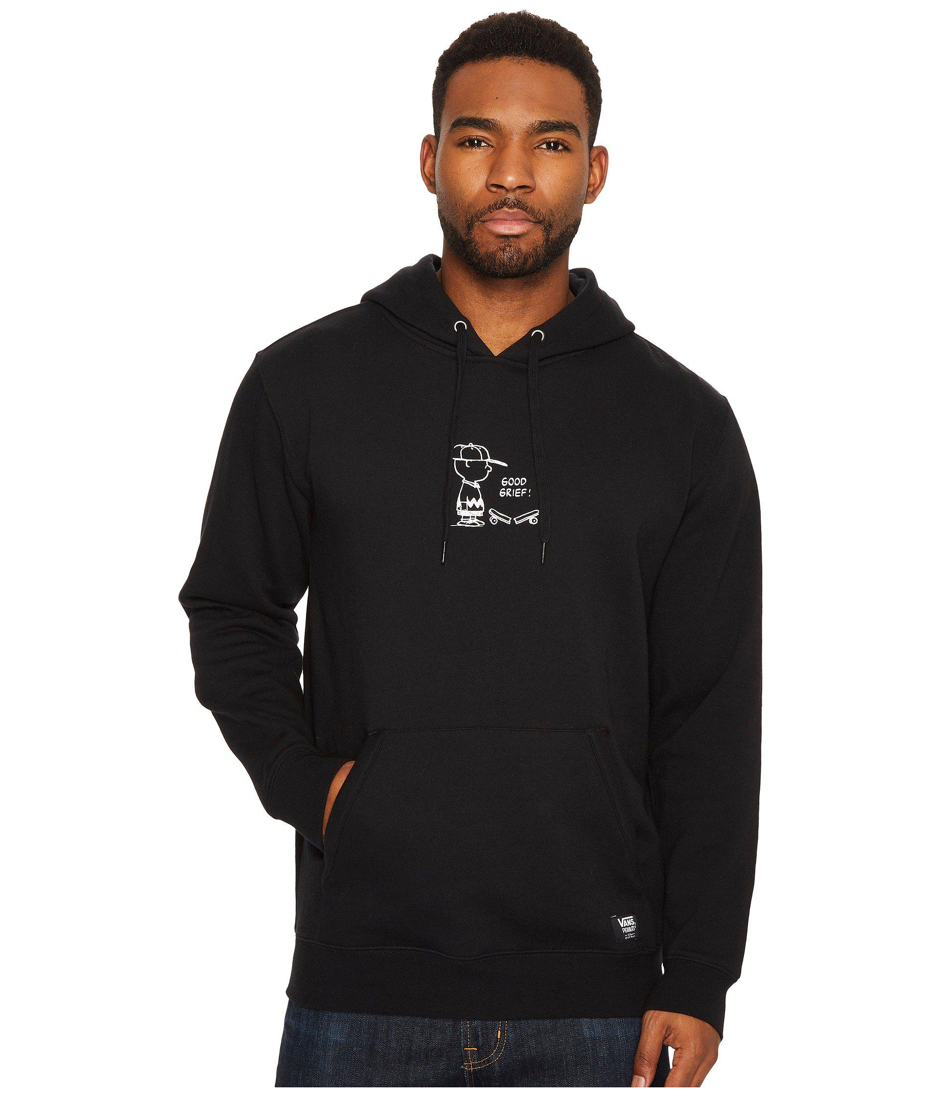 6a8875dd5ebd13 Lyst - Vans X Peanuts Good Grief Pullover Hoodie in Black for Men