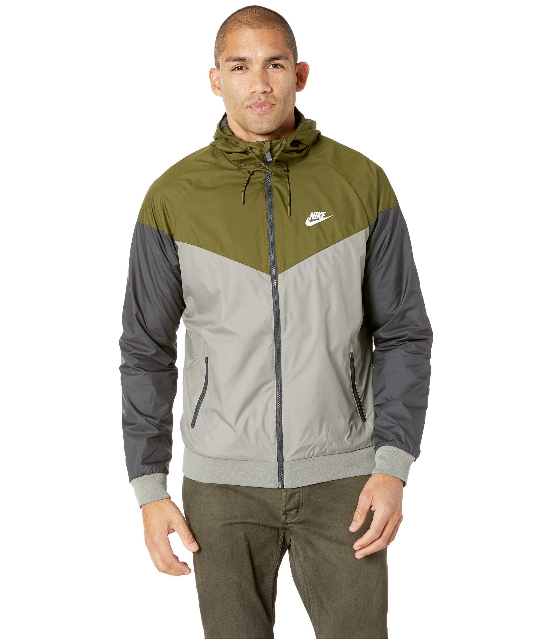 4d0b47bd06 Lyst - Nike Sportwear Windrunner Jacket (olive Canvas dark Stucco ...
