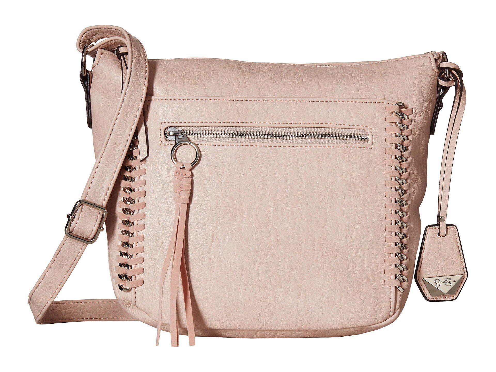 Jessica Simpson Becca Bucket Crossbody (Platinum) Cross Body Handbags O9lJ2hM9g