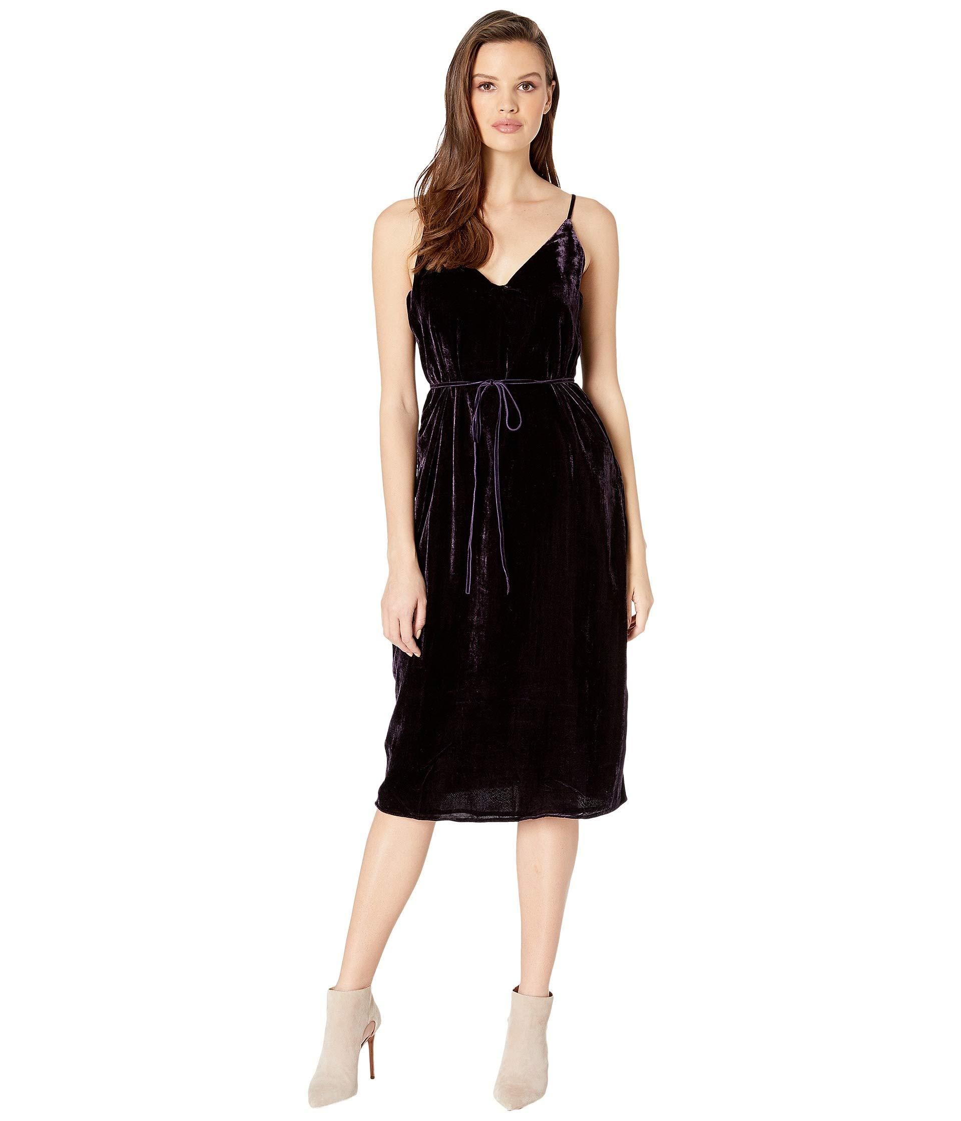 Lyst - Cupcakes And Cashmere Javier Burnout Velvet Slip Dress (dark ... bc3747894
