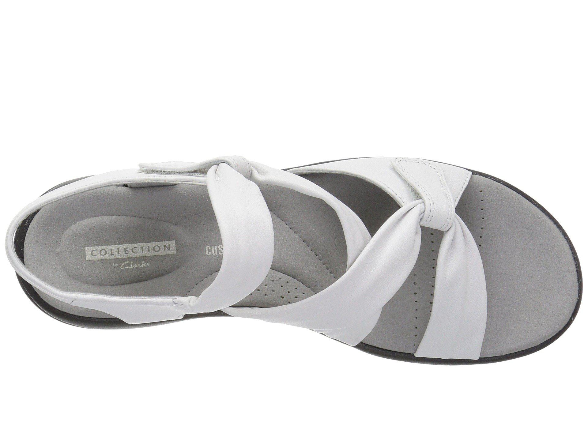 e466d58fbad Clarks - White Saylie Moon (pewter Metallic Leather) Women s Sandals -  Lyst. View fullscreen