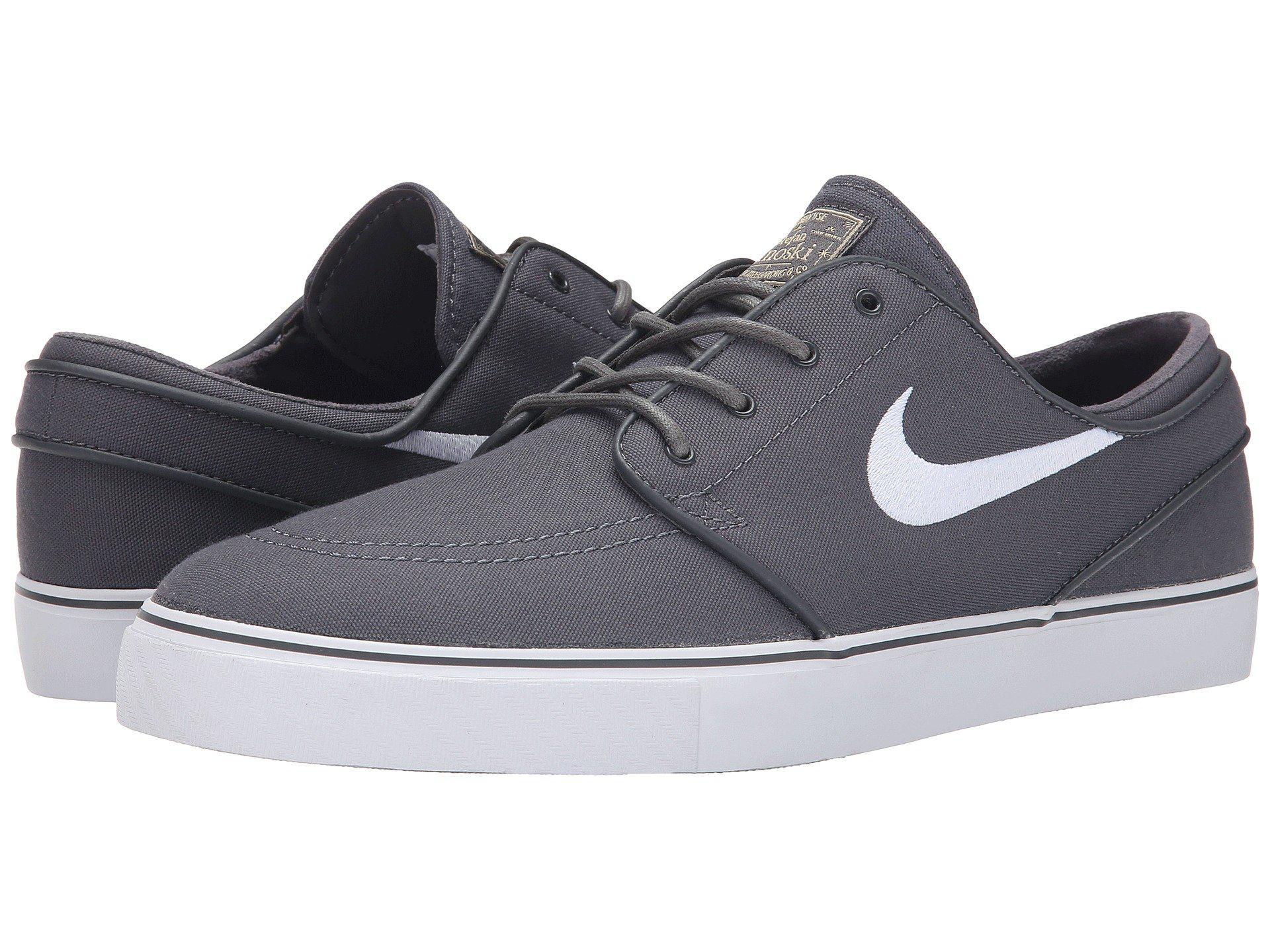 finest selection d5a04 0c648 Nike - Gray Zoom Stefan Janoski Canvas (dark Grey gum Light Brown metallic.  View fullscreen