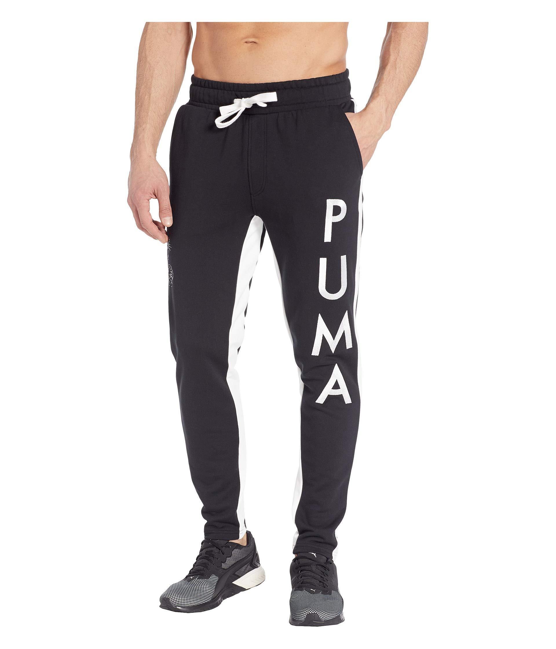 0348d73fd59d Lyst - PUMA Last Dayz Sweatpants ( Black  White) Men s Casual Pants ...