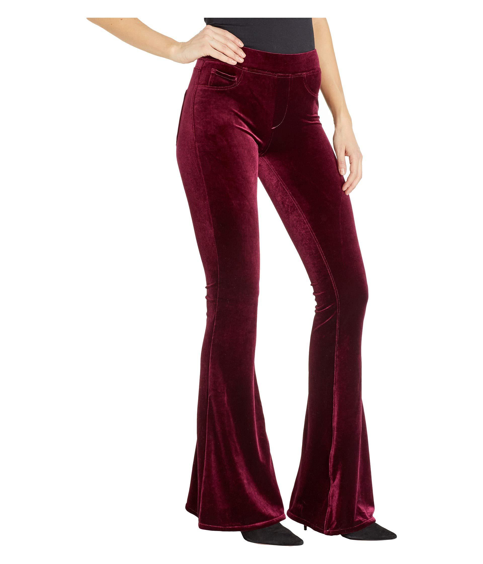 18236667cb3fe Lyst - Blank NYC Pull-on Velvet Flare Pants In Identity Crisis ...