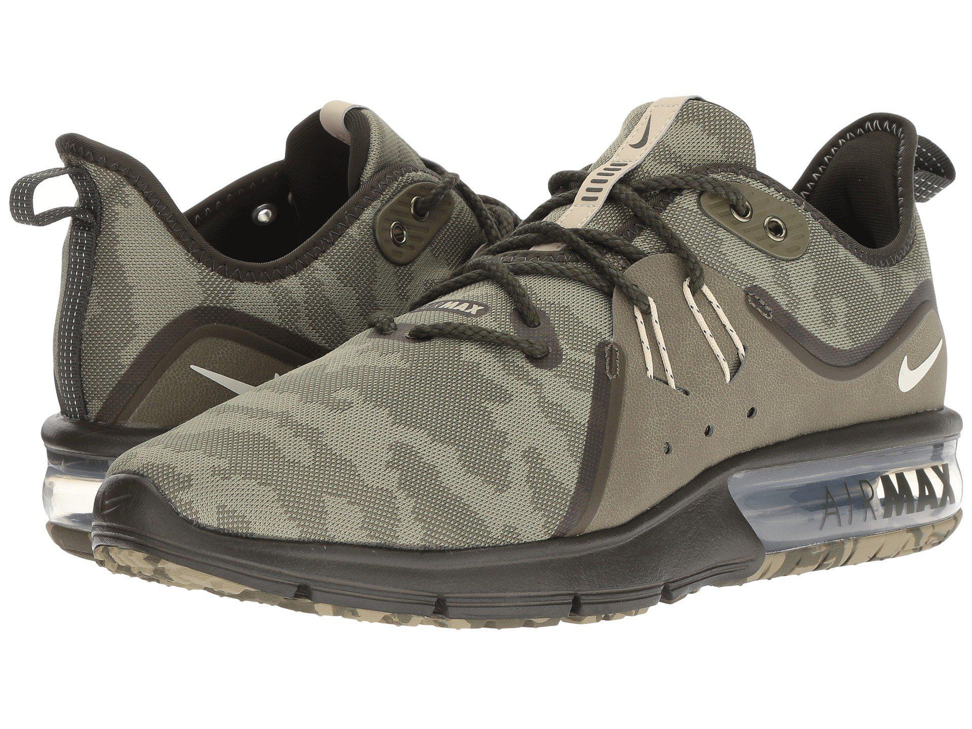 Men's Green Air Max Sequent 3 Premium (medium Olivebeachneutral Olivesequoia) Running Shoes
