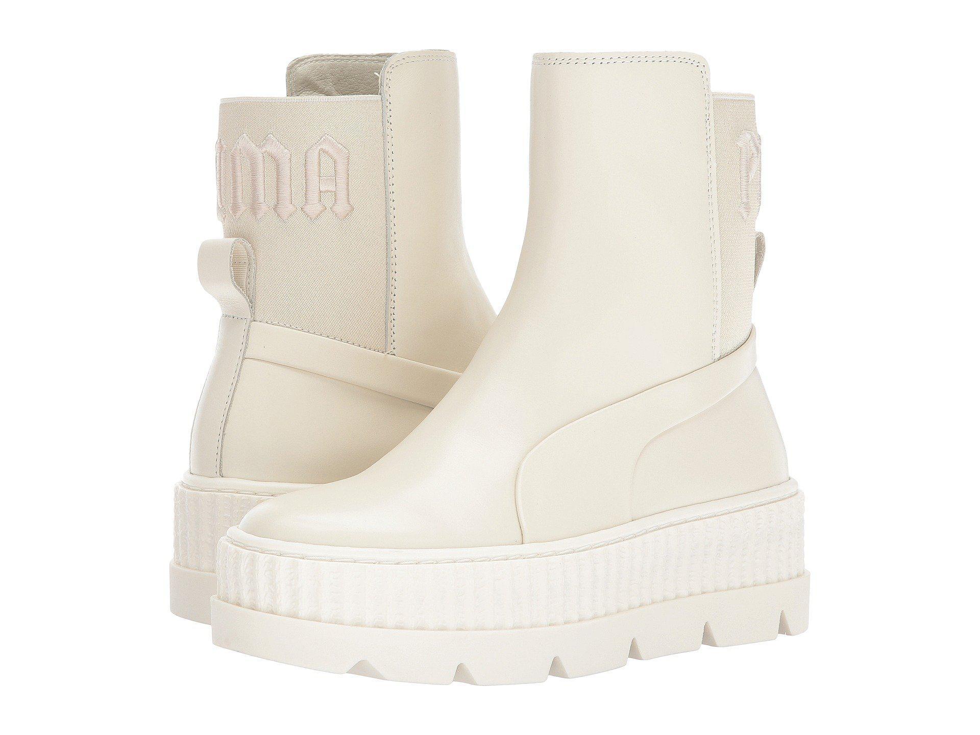 e6896ed6385c01 Lyst - PUMA X Fenty By Rihanna Chelsea Sneaker Boot in White