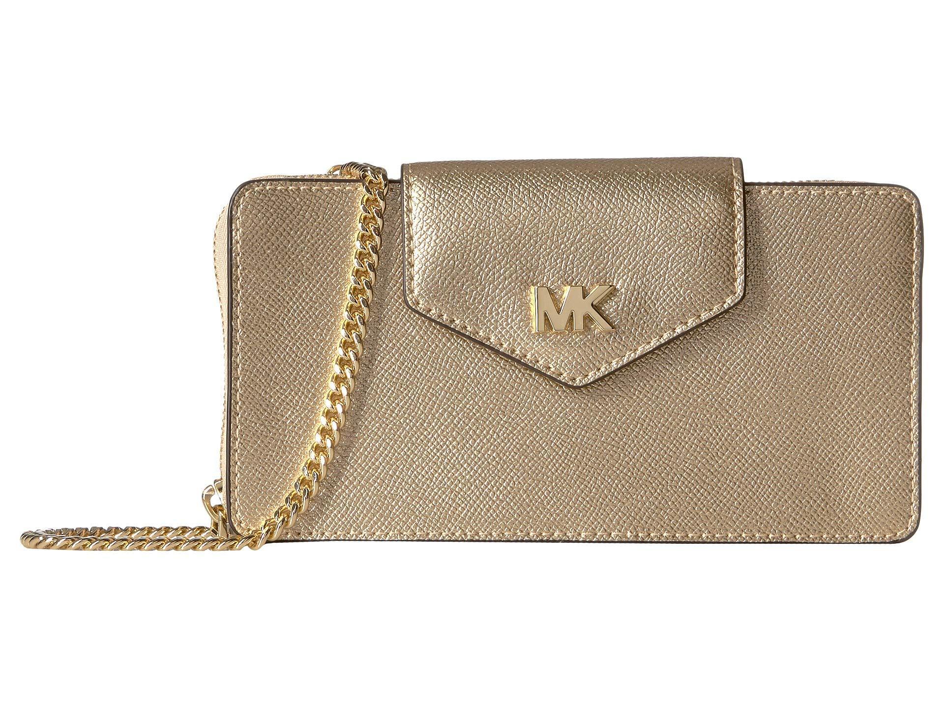c5a9c2bcbf93 MICHAEL Michael Kors. Women s Metallic Small Convertible Phone Crossbody  (soft Pink) Handbags
