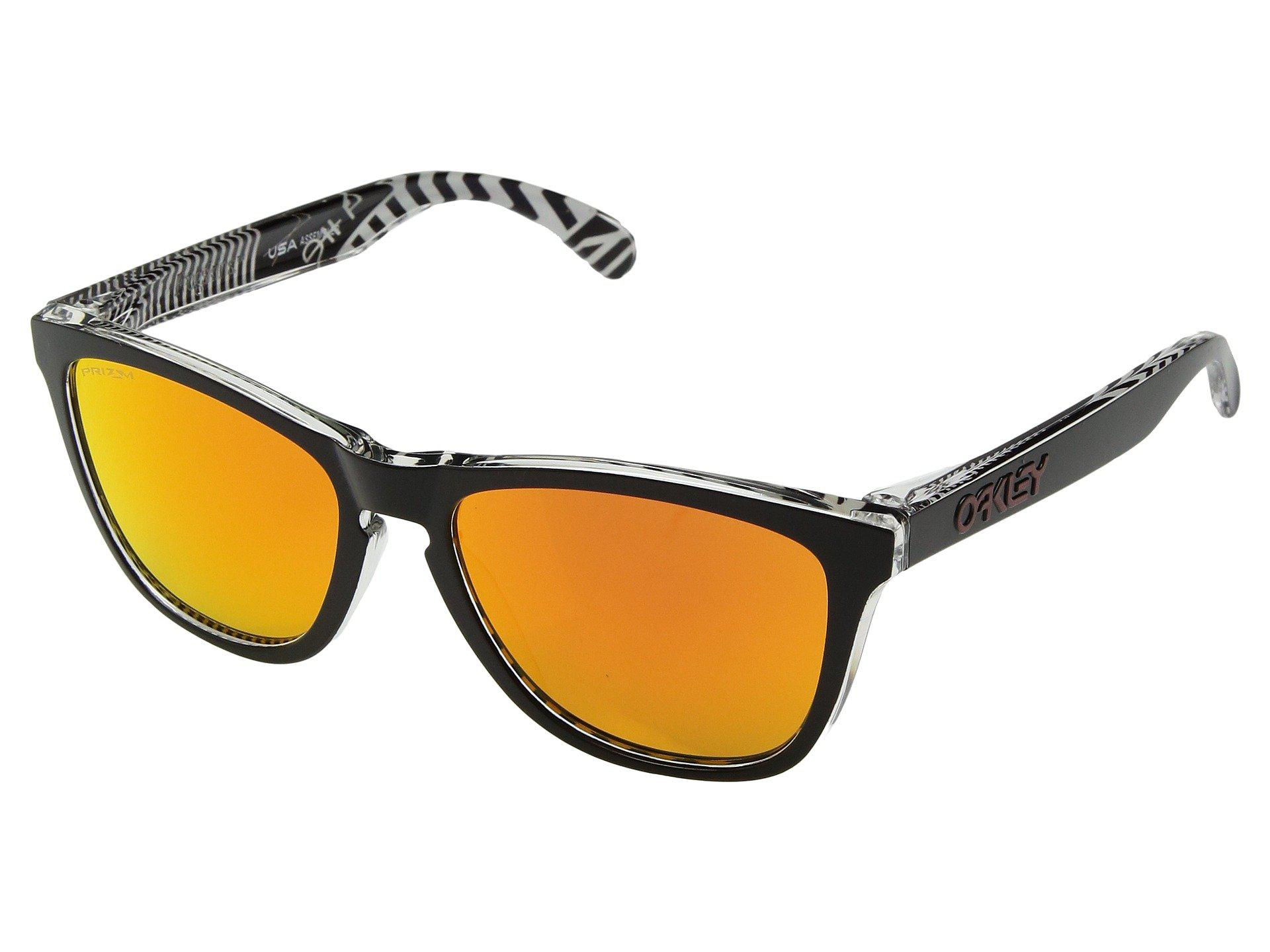 3096acc8d477 Oakley. Women s Frogskins Urban Commuter (iml) (tokyo Black W  Prizm Ruby)  Athletic Performance Sport Sunglasses