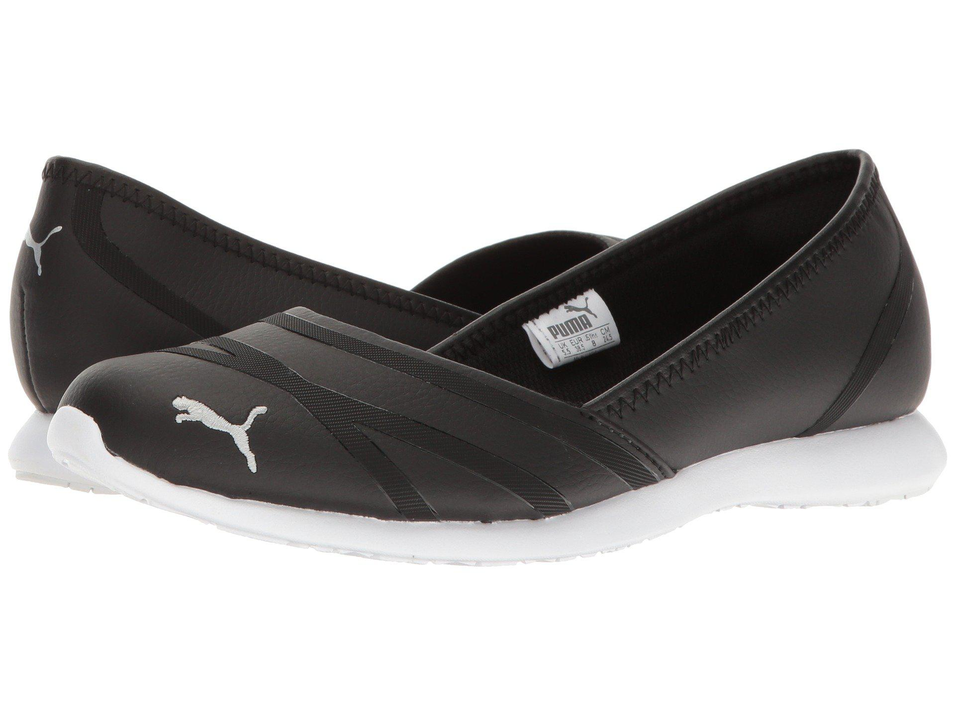 Lyst - PUMA Vega Ballet Sl ( Black  Black) Women s Shoes in Black ... 988fe53ee