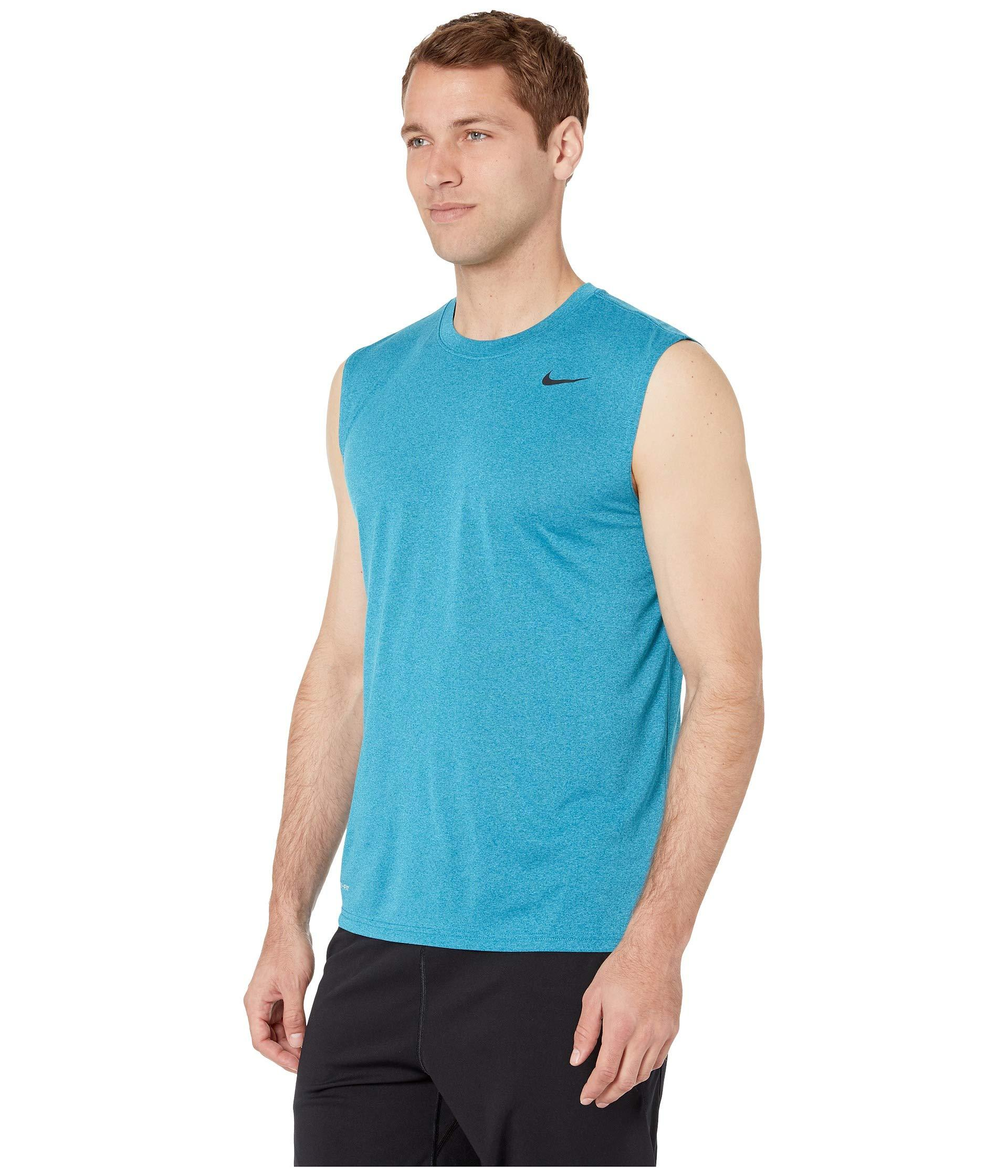 2498b80f Lyst - Nike Legend 2.0 Sleeveless Tee (black/black/matte Silver) Men's T  Shirt in Blue for Men