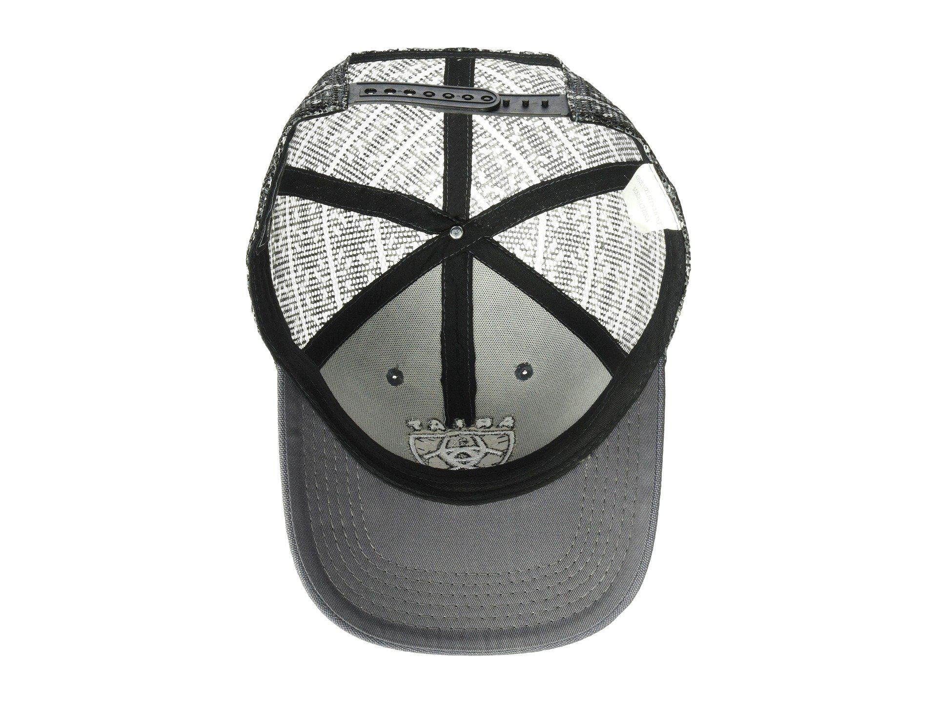 Lyst - Ariat Logo Shield Flexfit Cap (grey) Caps in Gray for Men a3415ee29595