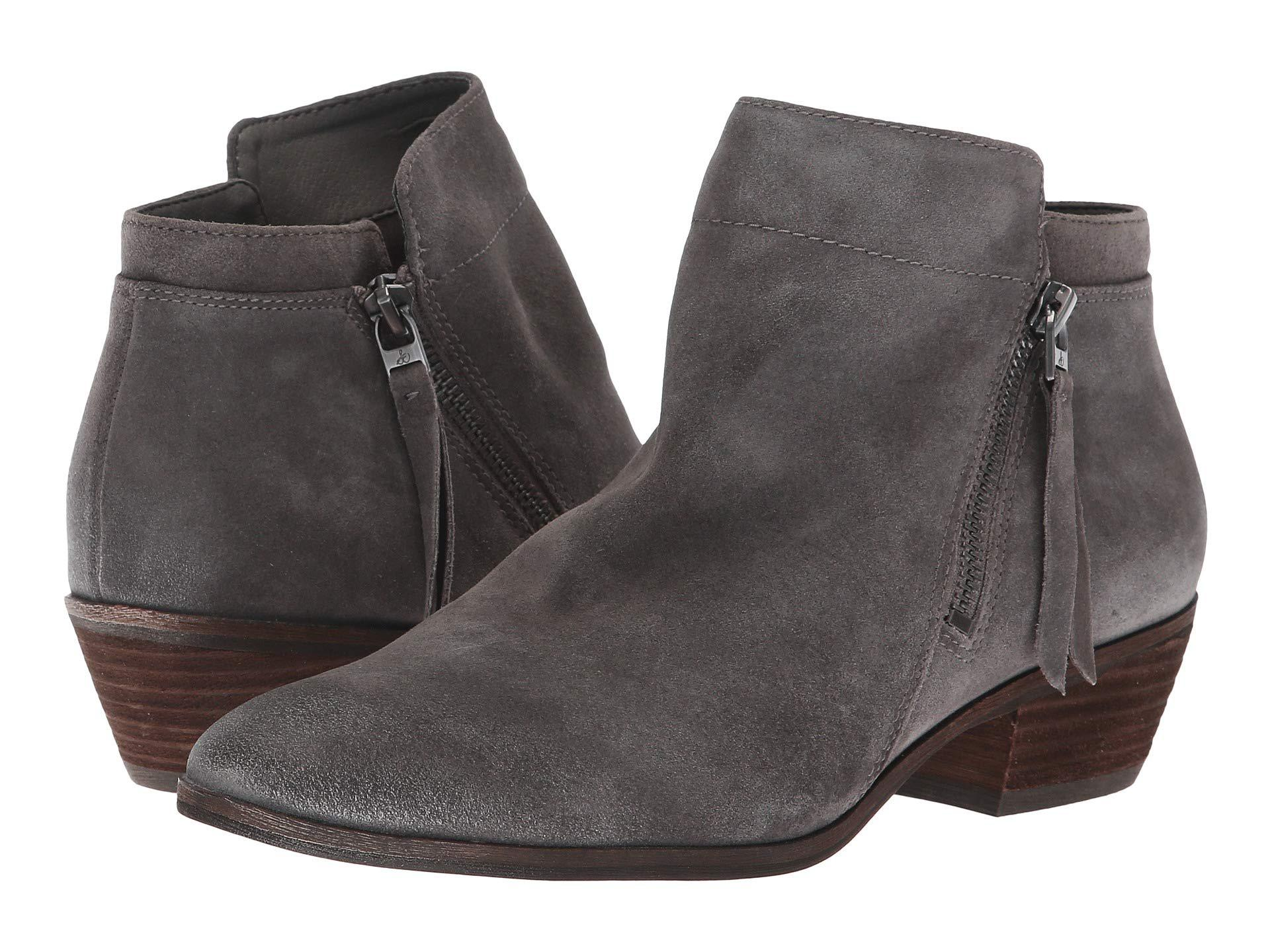 21a0578a8a5402 Lyst - Sam Edelman Packer (steel Grey Velutto Suede Leather) Women s ...