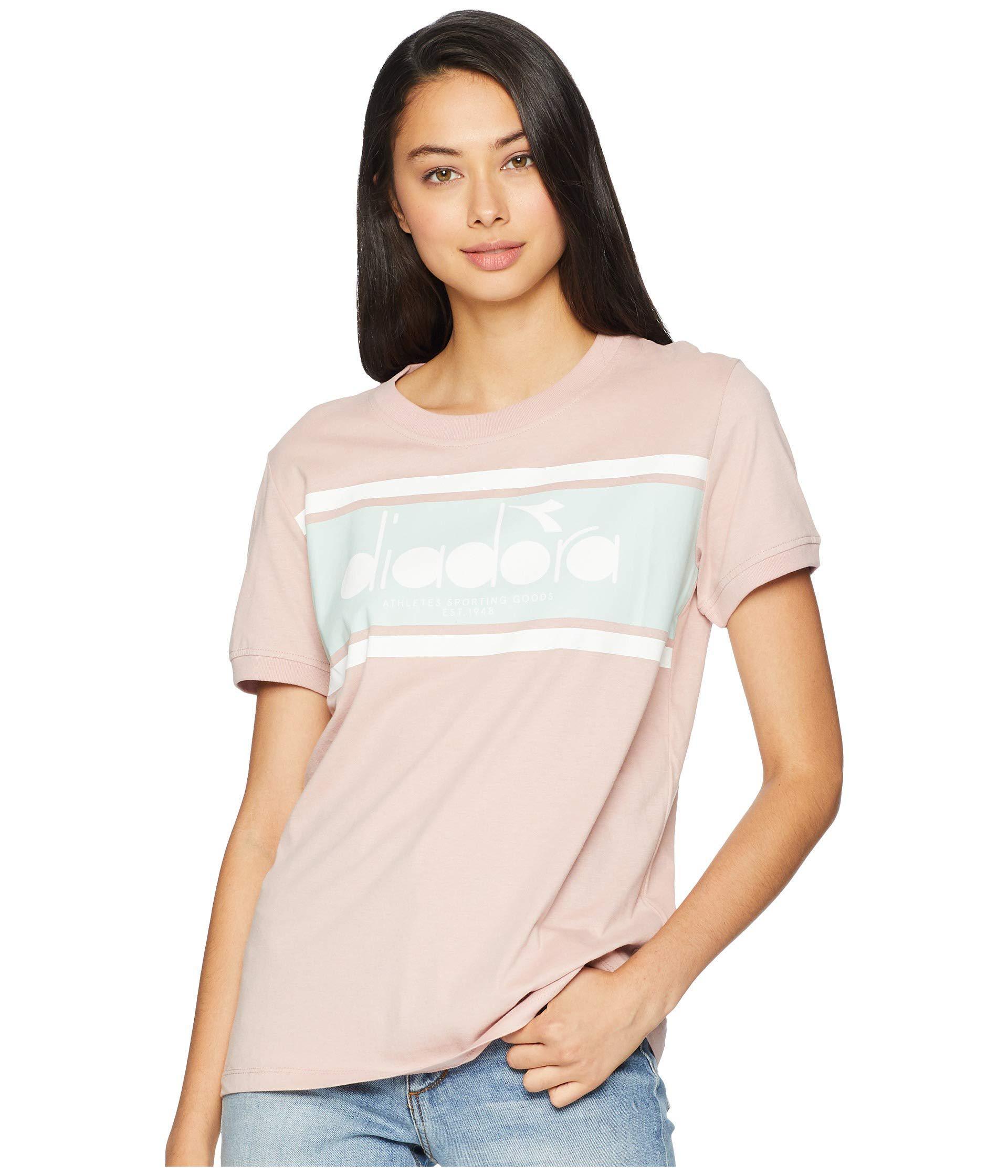 f08f0dce Lyst - Diadora Short Sleeve Spectra T-shirt (black/white) Women's T ...