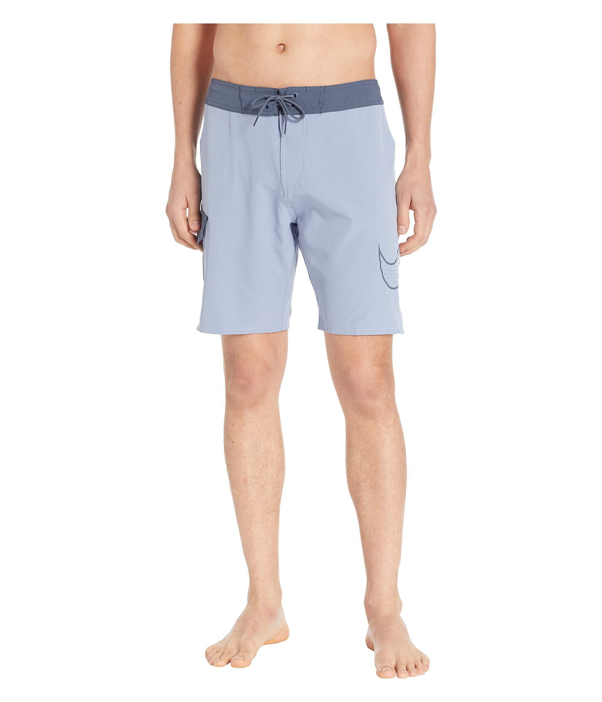 da629f7ffeefd Nike. Blue 9 Perforated Swoosh Drift Boardshorts (black) Men's Swimwear