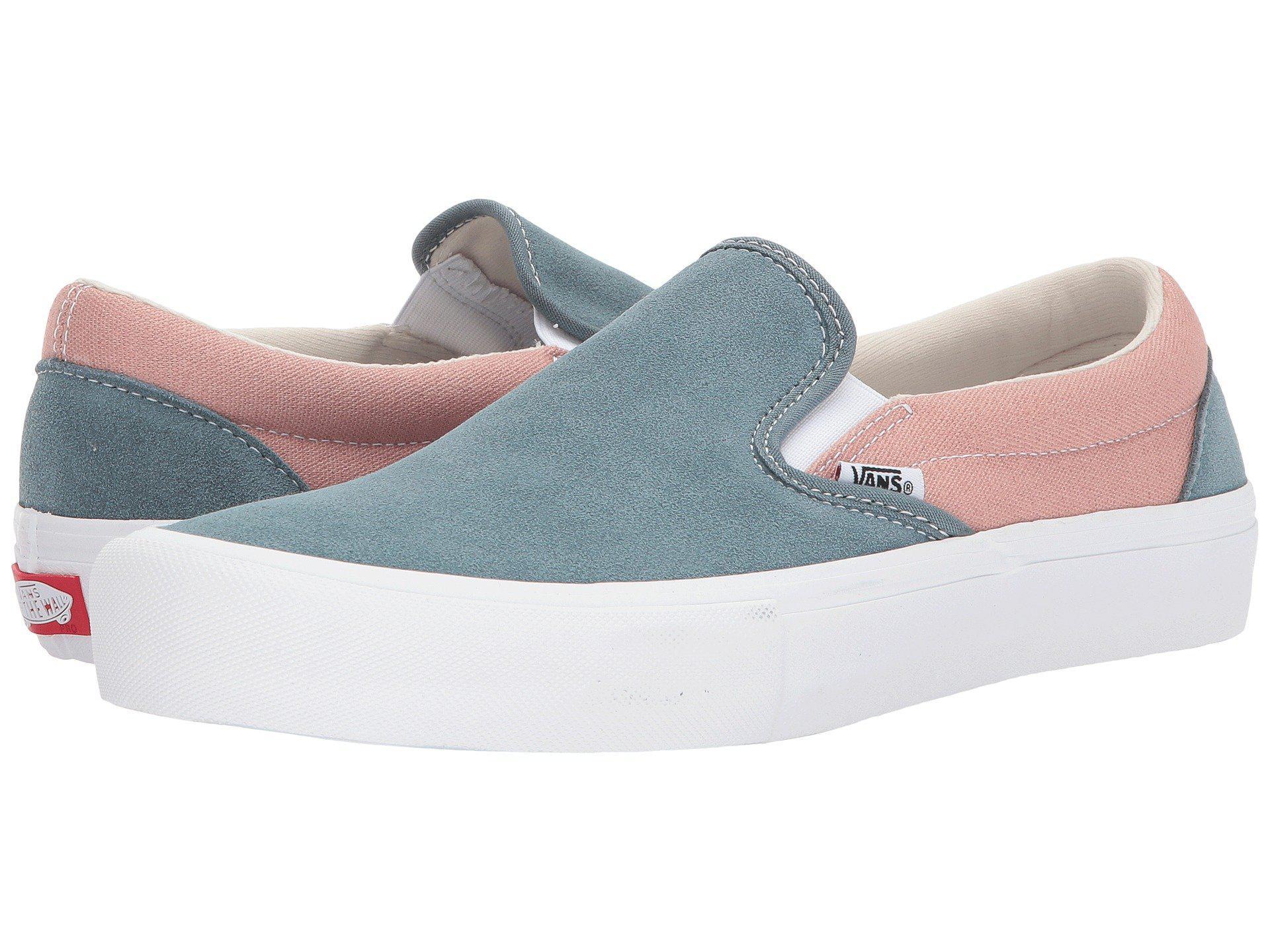 Lyst - Vans Slip-on Pro (white white) Men s Skate Shoes in Blue for Men 5070c0b71