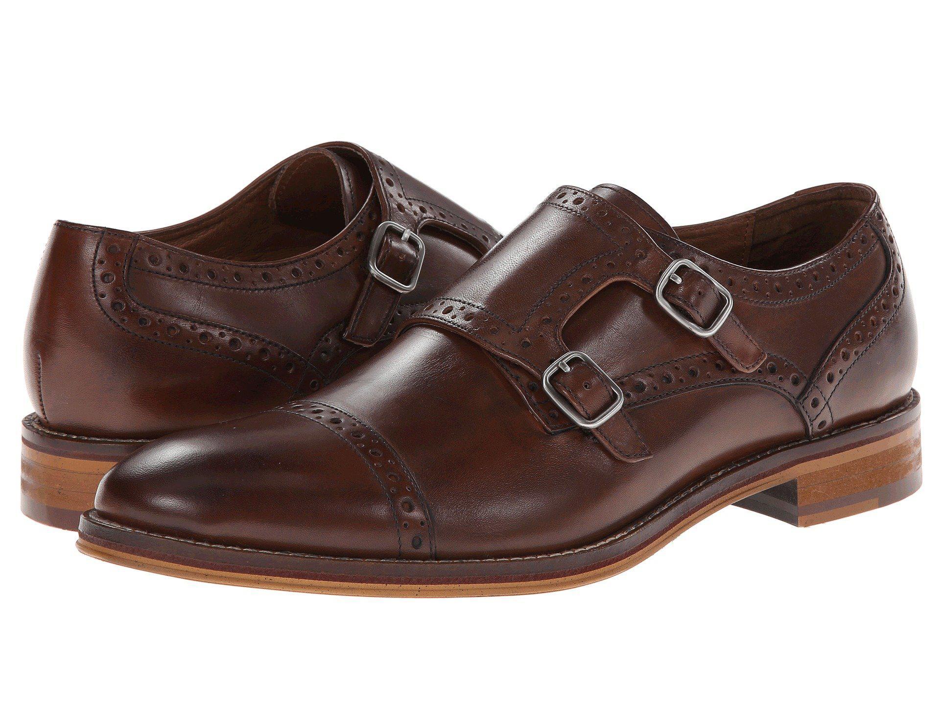 Johnston & Murphy. Men's Brown Conard Double Monk Strap