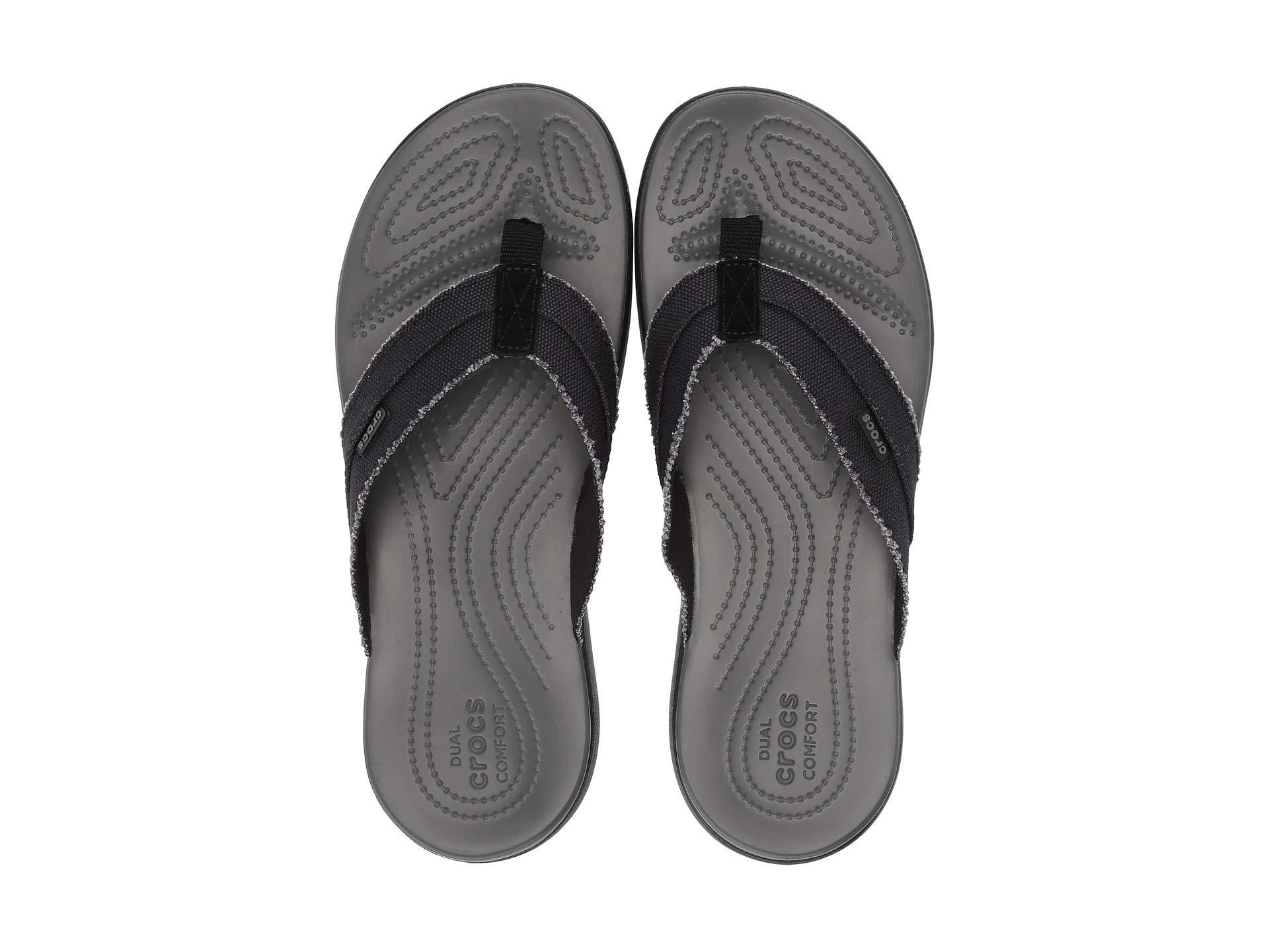 8c4920ada966 Lyst - Crocs™ Santa Cruz Canvas Flip (black slate Grey) Men s ...