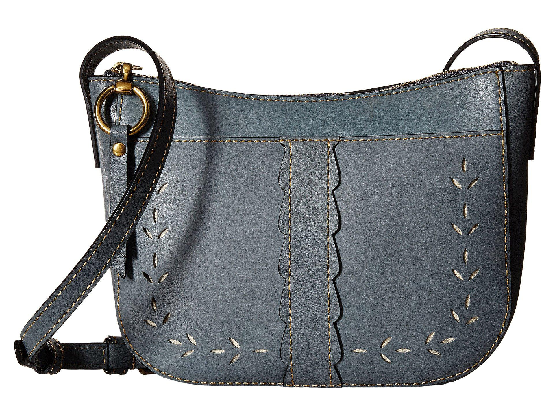 Frye Ilana Perf Zip Crossbody (White Matte Leather) Cross Body Handbags gtTtIA6b