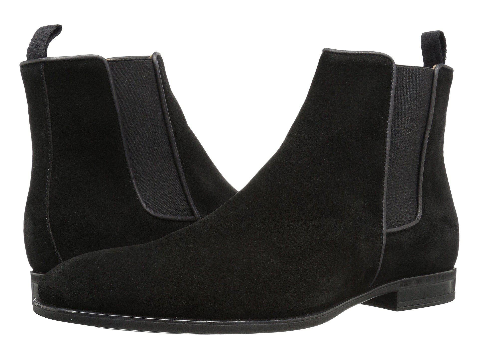 58193ada491 Lyst - Aquatalia Adrian (black Dress Suede) Men s Pull-on Boots in ...