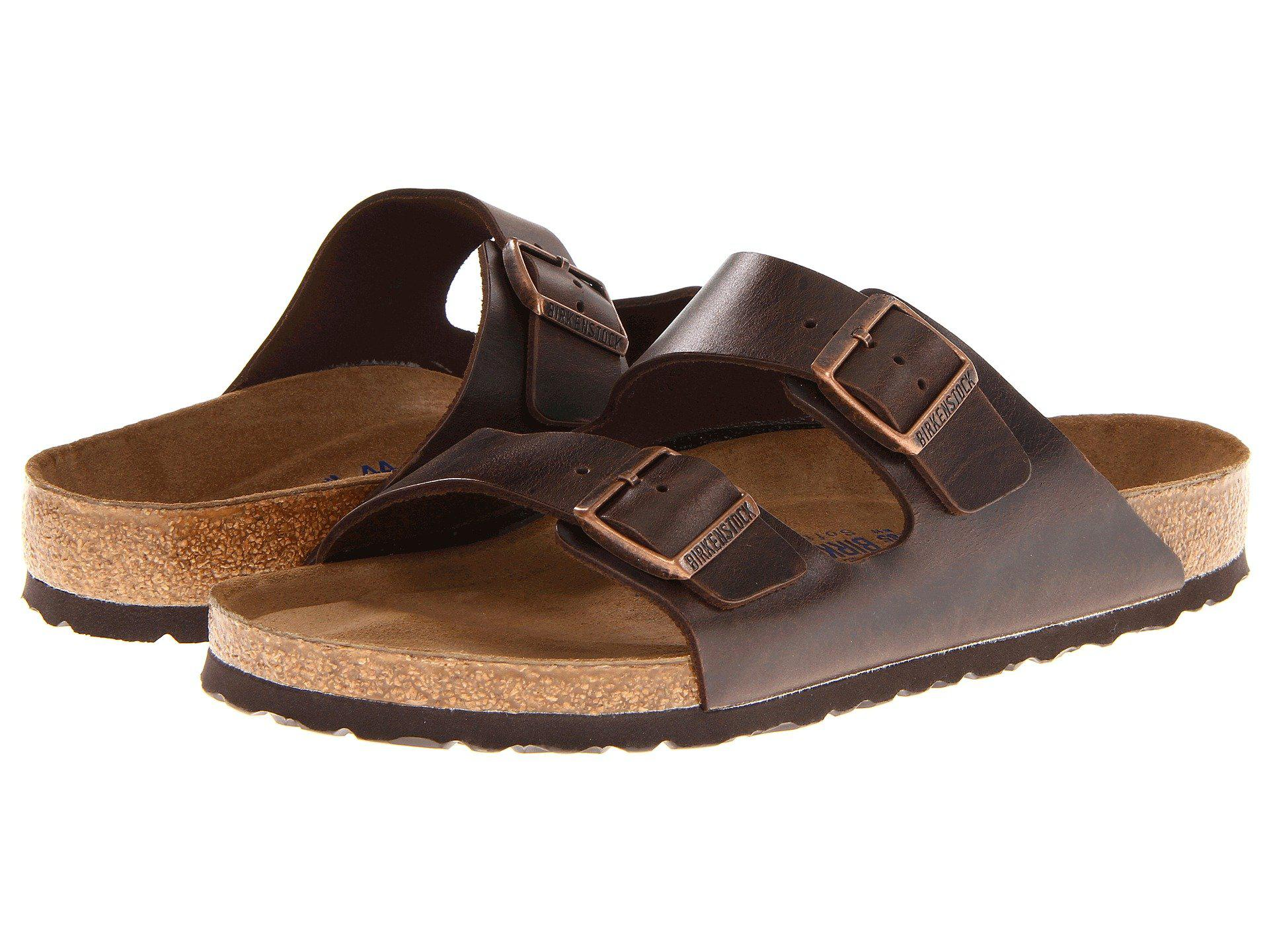 dc00e5ca858e Birkenstock - Arizona Soft Footbed - Leather (unisex) (brown Amalfi Leather)  Sandals. View fullscreen