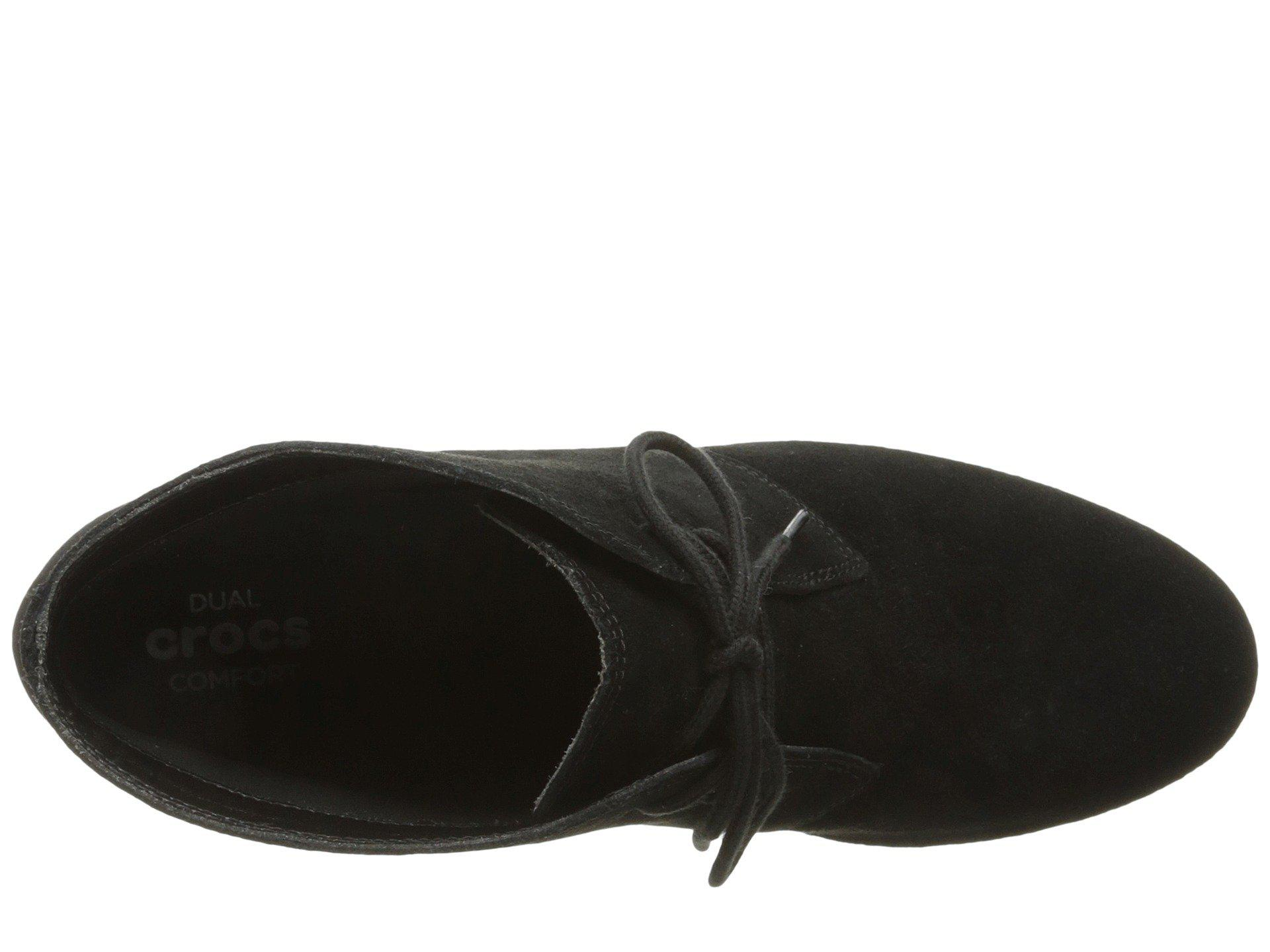 Shootie Crocs™ Black Wedge Lyst Leigh black Women's Suede In Boots gIwaUdxq
