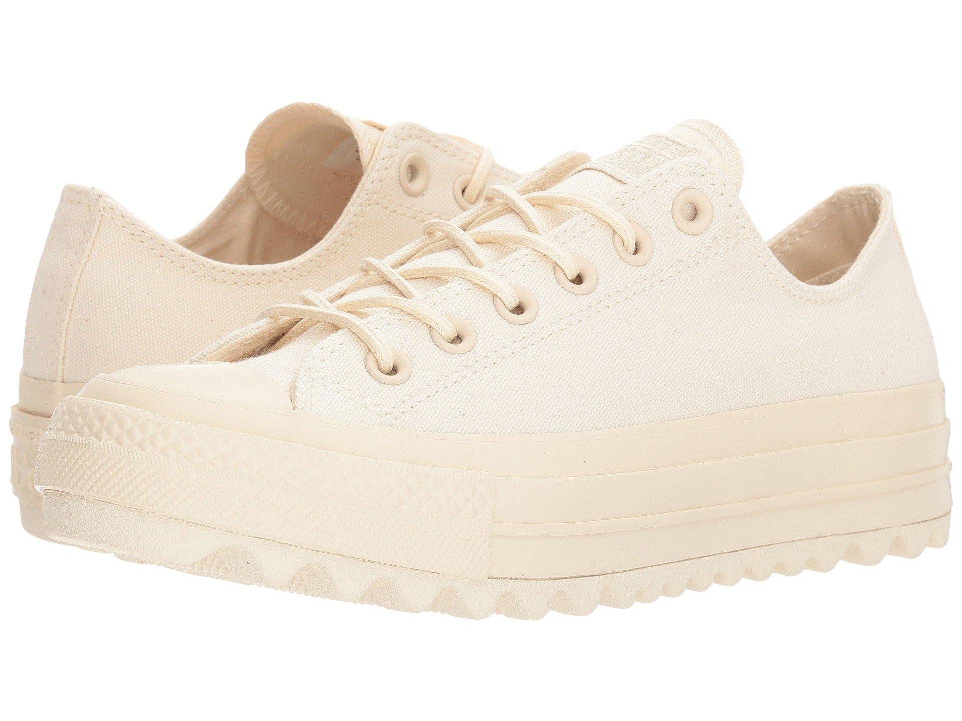 1f9cf995ef8c Lyst - Converse Chuck Taylor® All Star Lift Ripple Canvas Ox in Natural