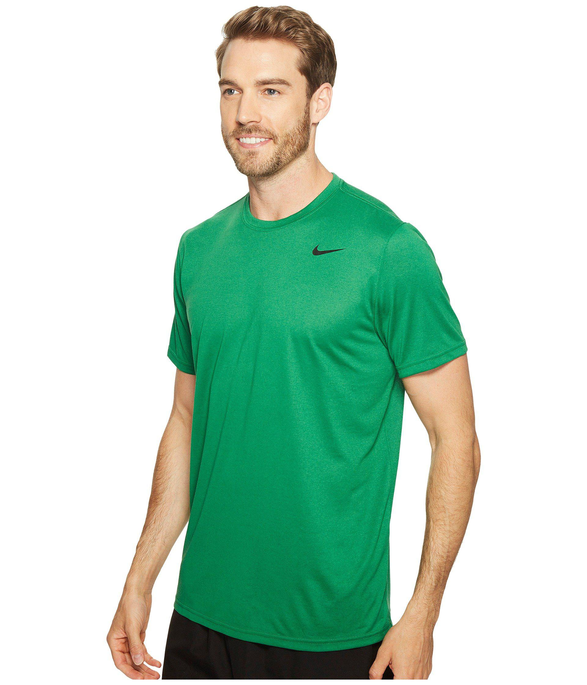ca5ffce26cc9 Lyst - Nike Legend 2.0 Short Sleeve Tee (light Game Royal Heather black) Men s  T Shirt in Green for Men - Save 14%