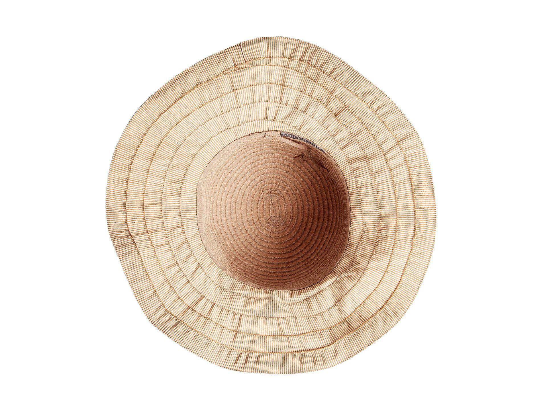 Lyst - San Diego Hat Company Rbl4786 Ribbon Hat With Shell Trim And ... 546e8c9aa4d4