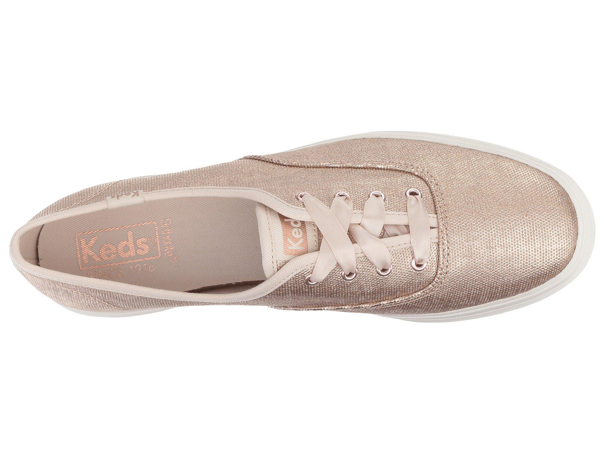 ff6124c84139 Keds Triple Matte Brushed Metallic (rose Gold) Women s Lace Up ...