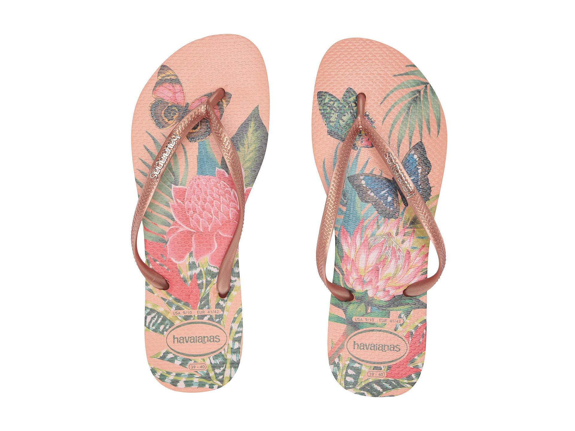 974f7f6dbdc7 Havaianas - Pink Slim Tropical Flip Flops (black graphite) Women s Sandals  - Lyst. View fullscreen