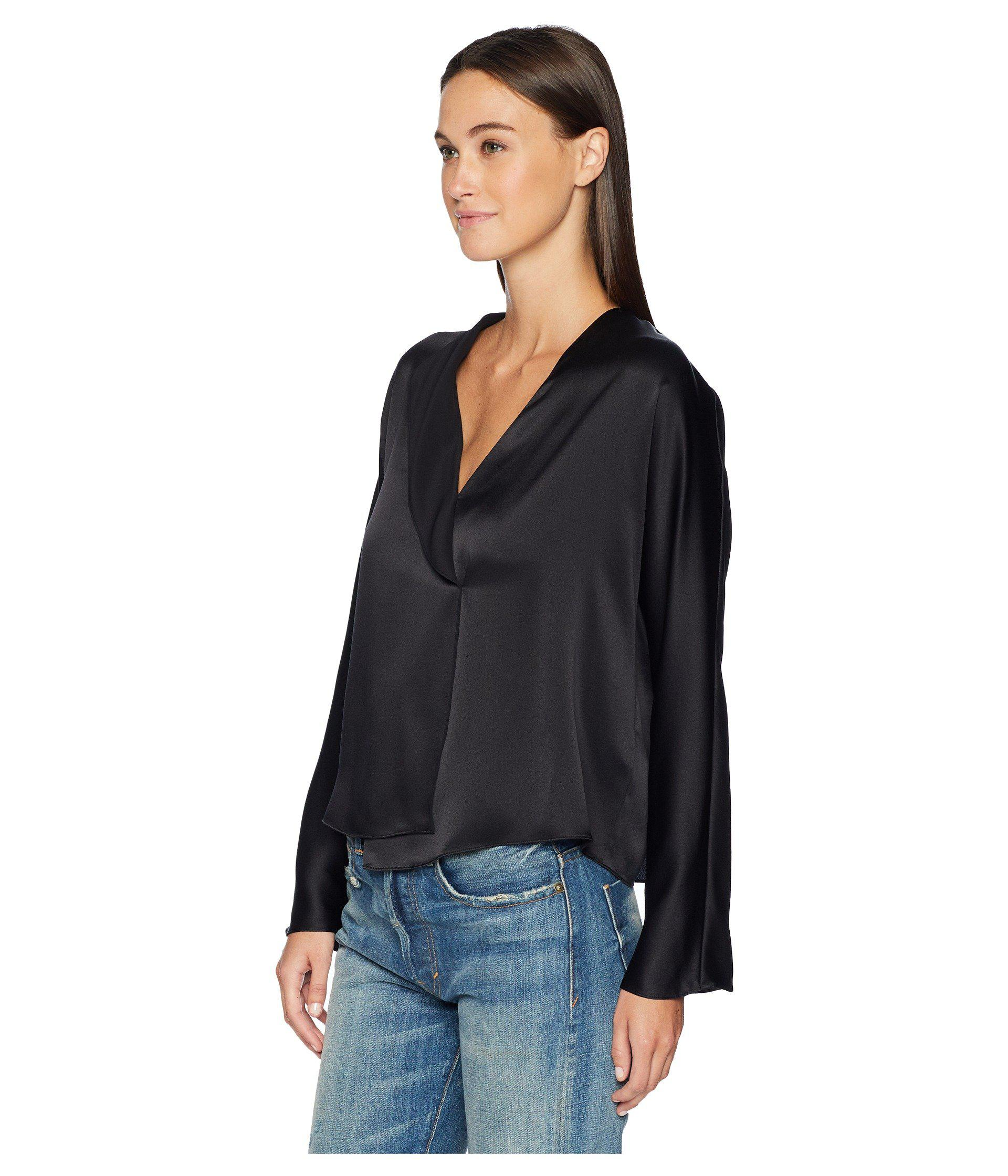 b13adf8a4a02b Lyst - Vince Drape Panel Blouse (black) Women s Clothing in Black