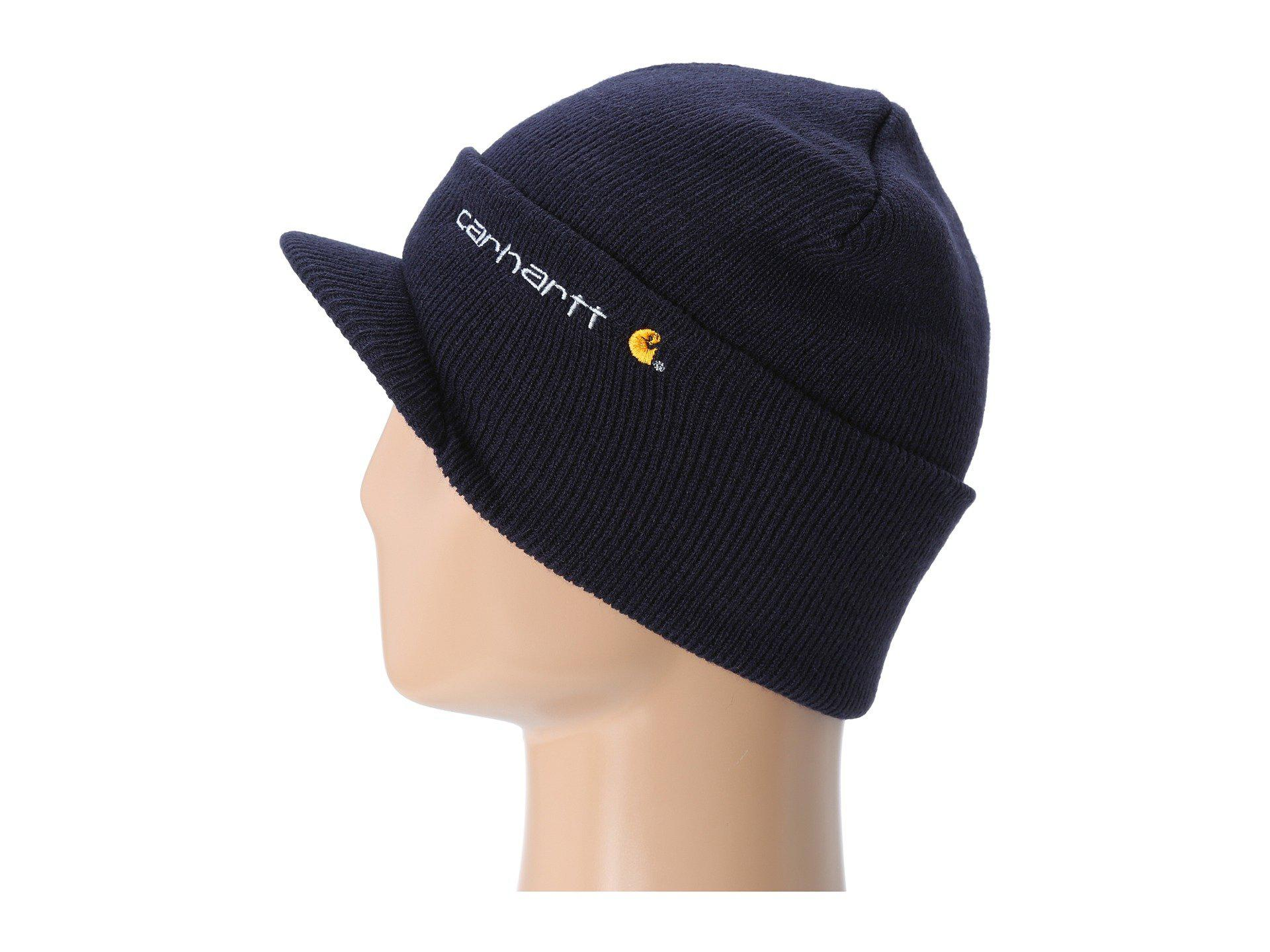 Lyst - Carhartt Knit Hat With Visor in Blue for Men a033e4ddcf0