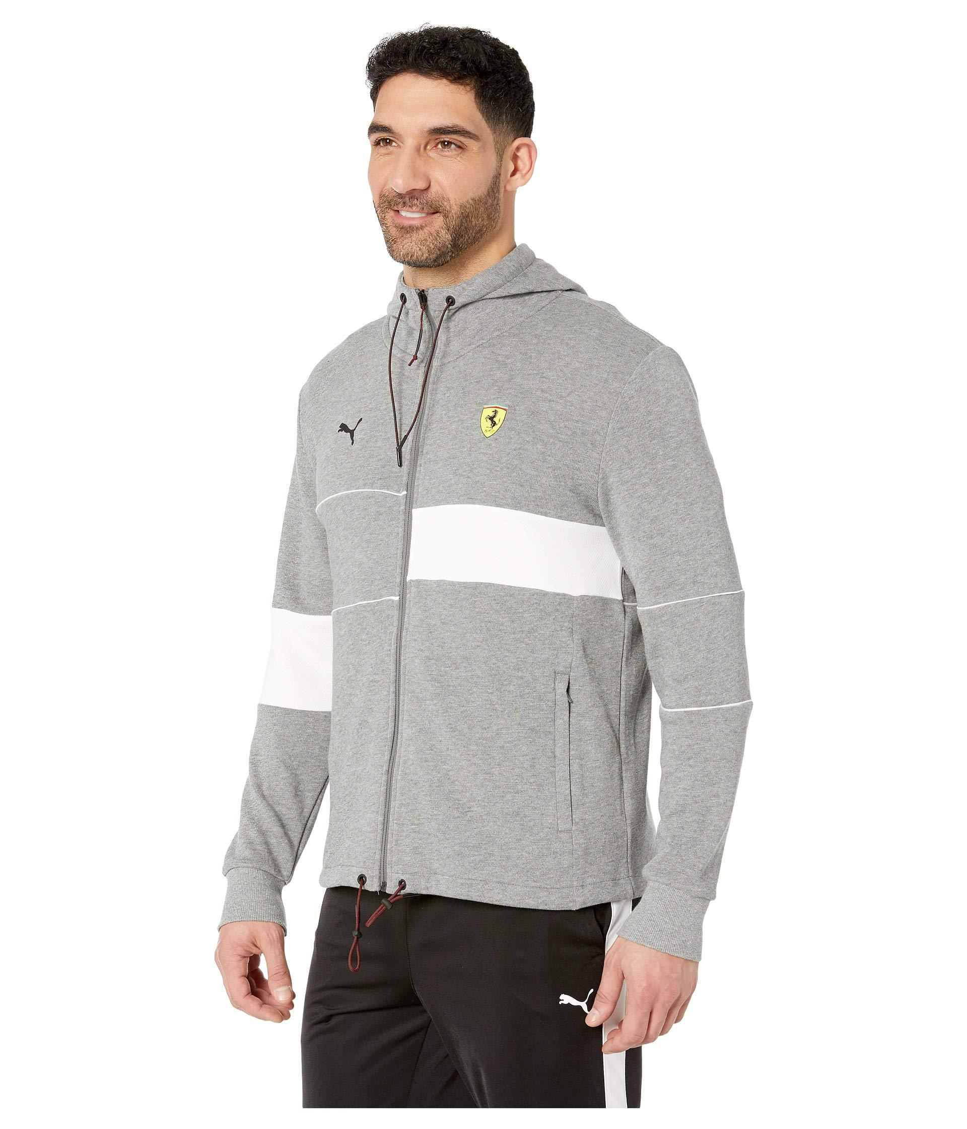 0952f1aaf2cc Lyst - PUMA Sf Hooded Sweat Jacket (peacoat) Men s Coat in Gray for Men