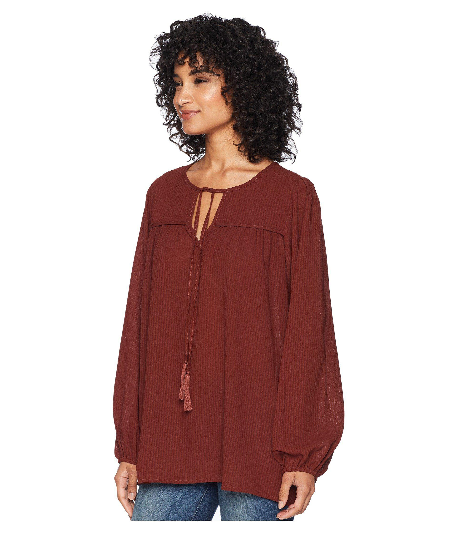 117eeb285ca4a Lyst - Bishop + Young Peasant Blouse (ivory) Women s Long Sleeve Pullover in  Red