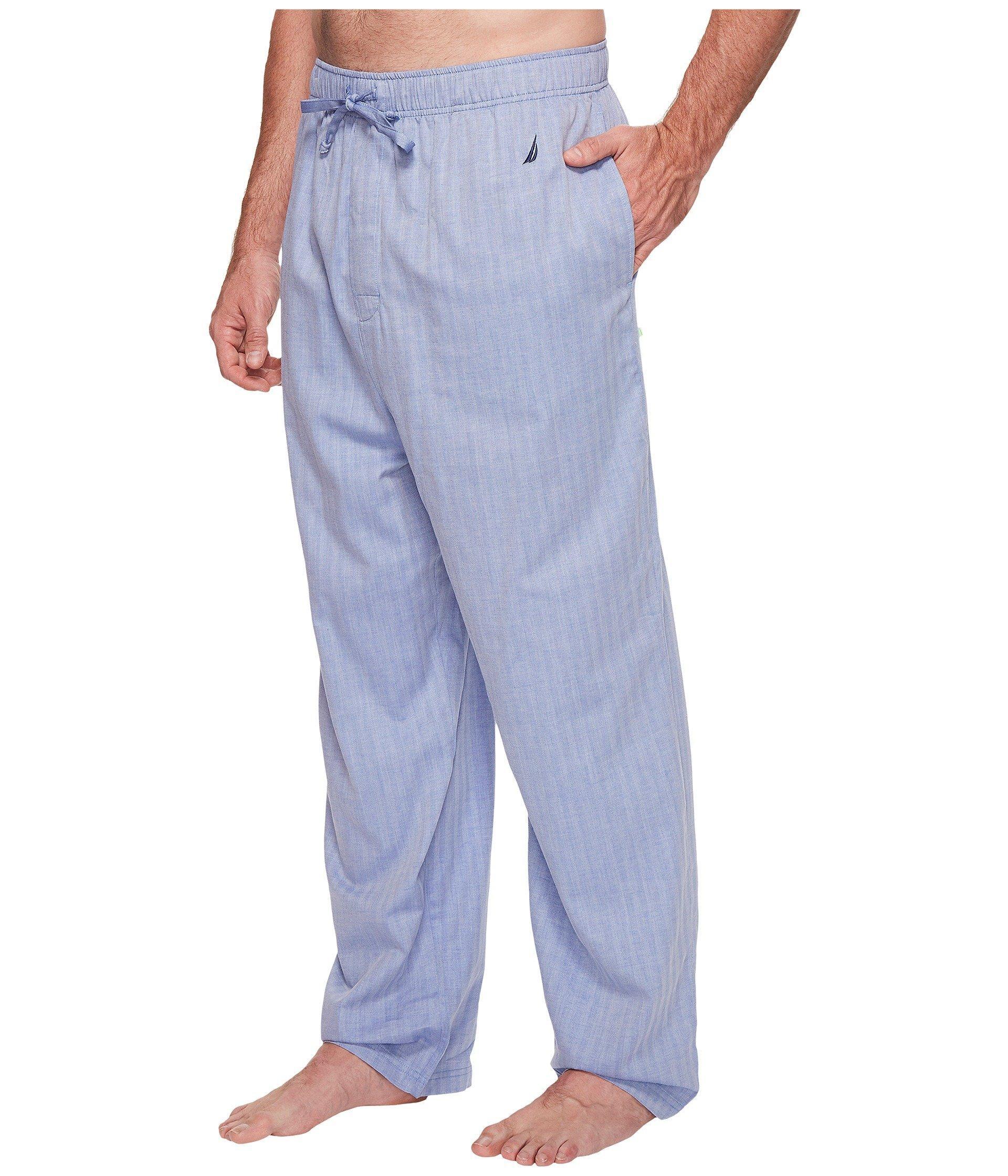 f32092edcba Nautica - Blue Big Tall Herringbone Plaid Sleep Pants for Men - Lyst. View  fullscreen