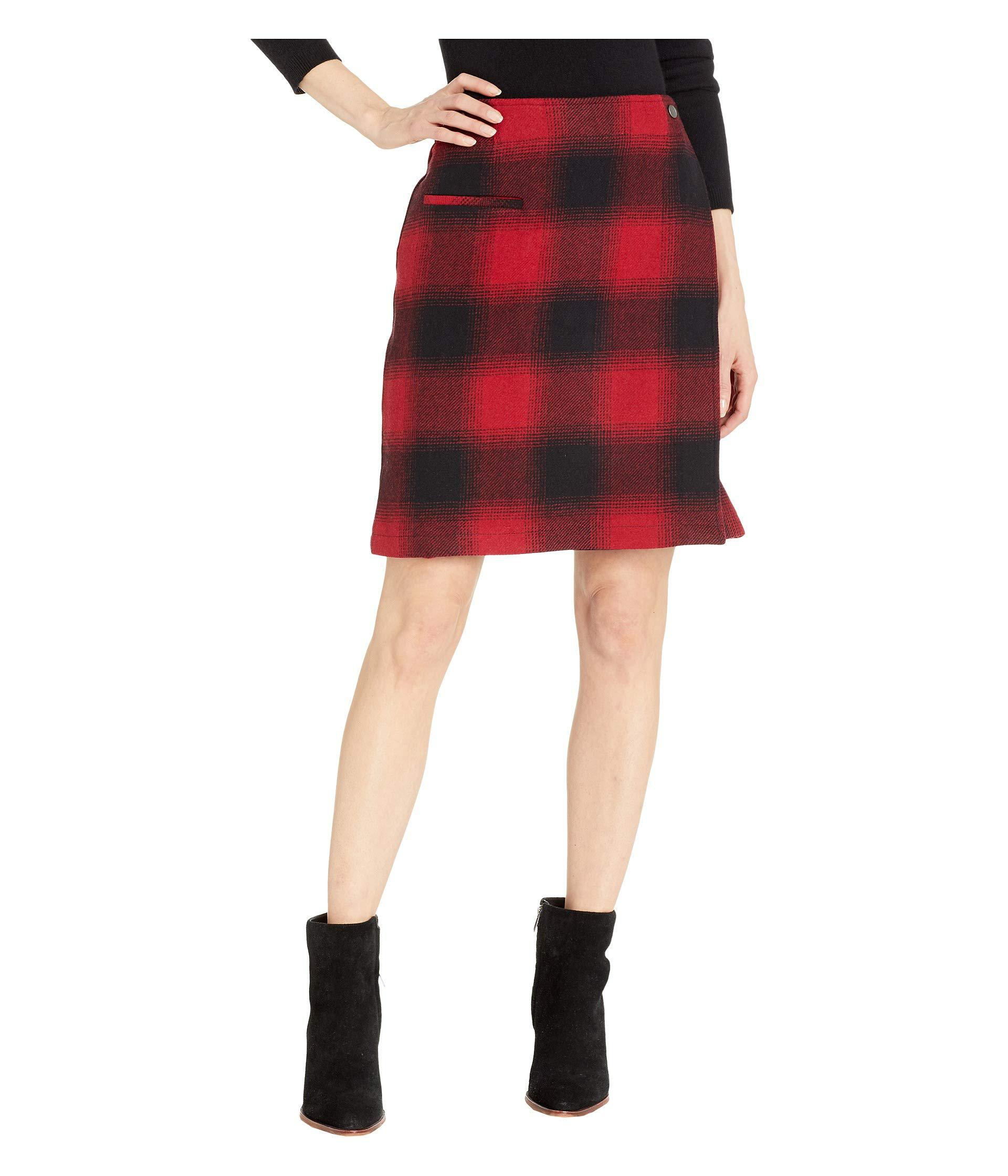 3808edcd6 Lyst - Pendleton Aurora Wrap Skirt (red/black Ombre Check) Women's ...