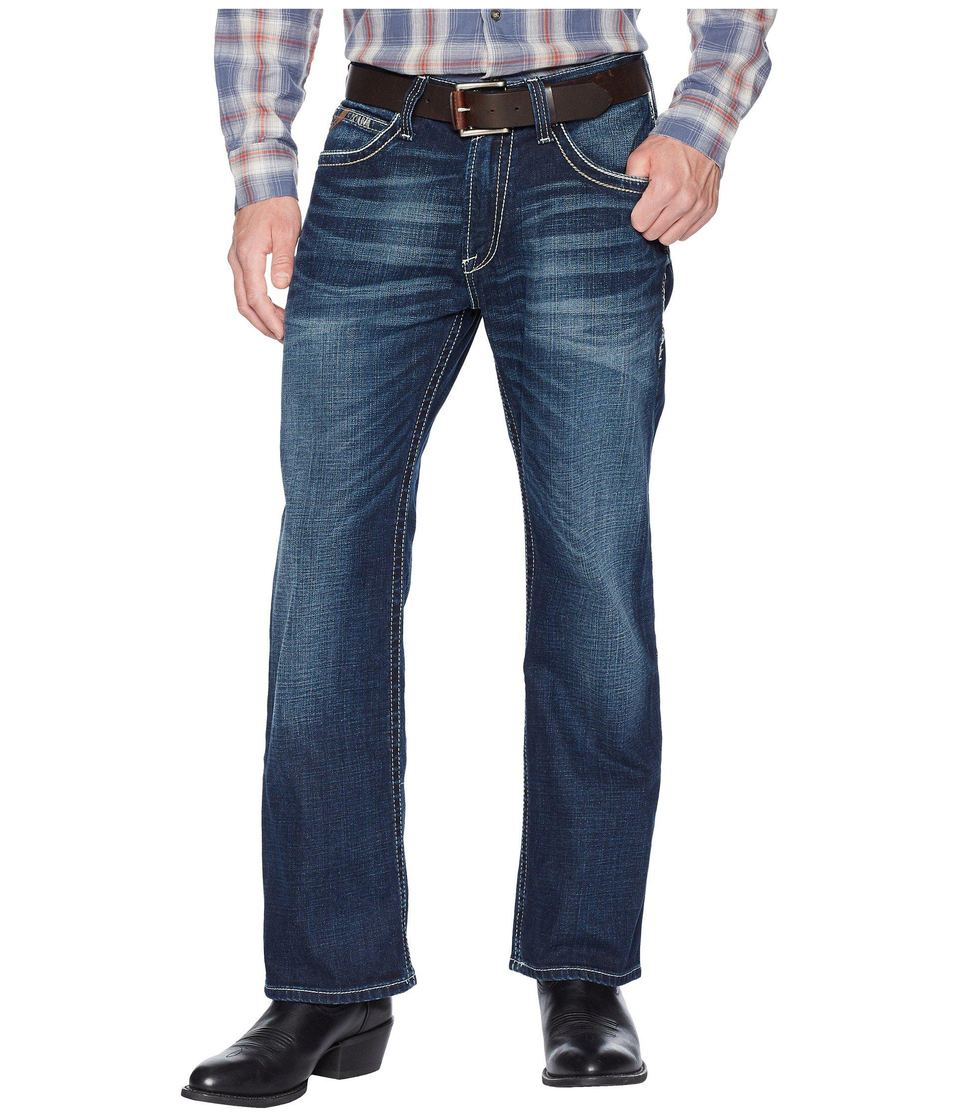 Ariat. Men's Blue M4 Adkins Low Rise Bootcut ...