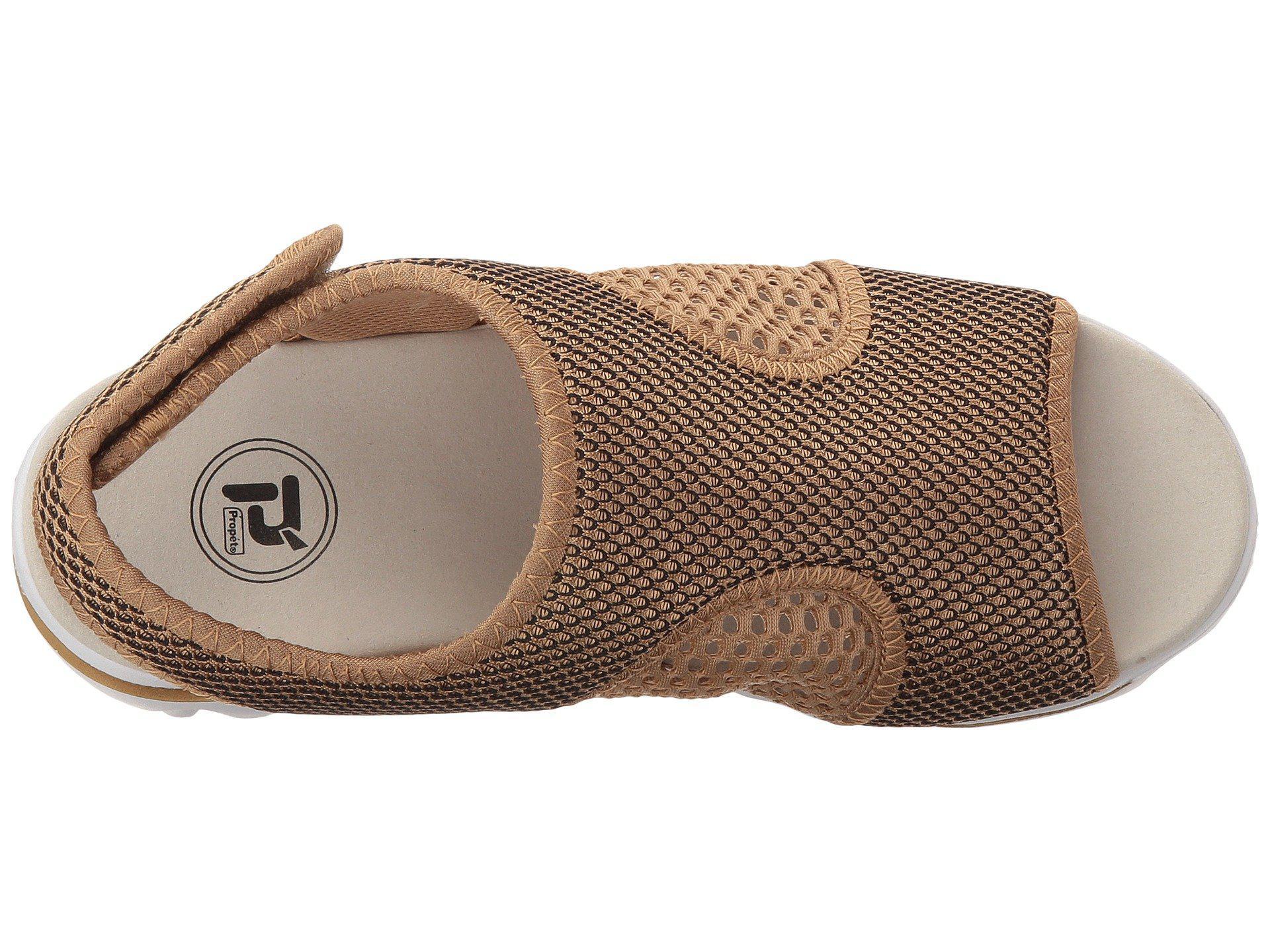 3f8c42150e1 Lyst - Propet Travelactiv Ss (silver black) Women s Sandals in Metallic