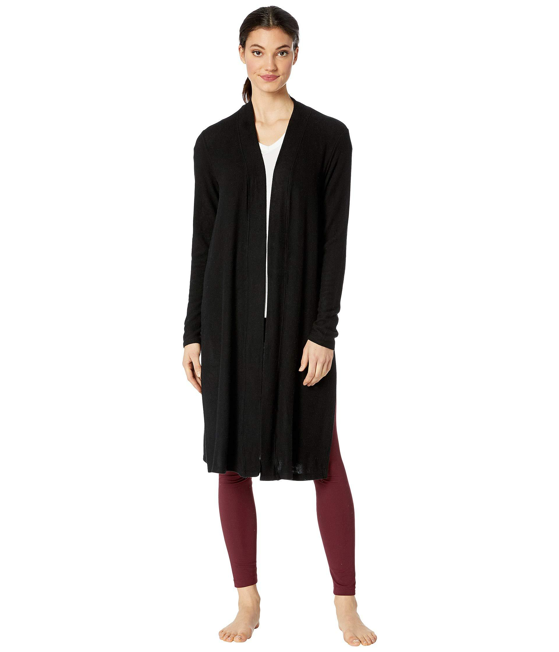 be7e730c2b Beyond Yoga. Black High Slits Long Duster (oatmeal Heather) Women's Sweater