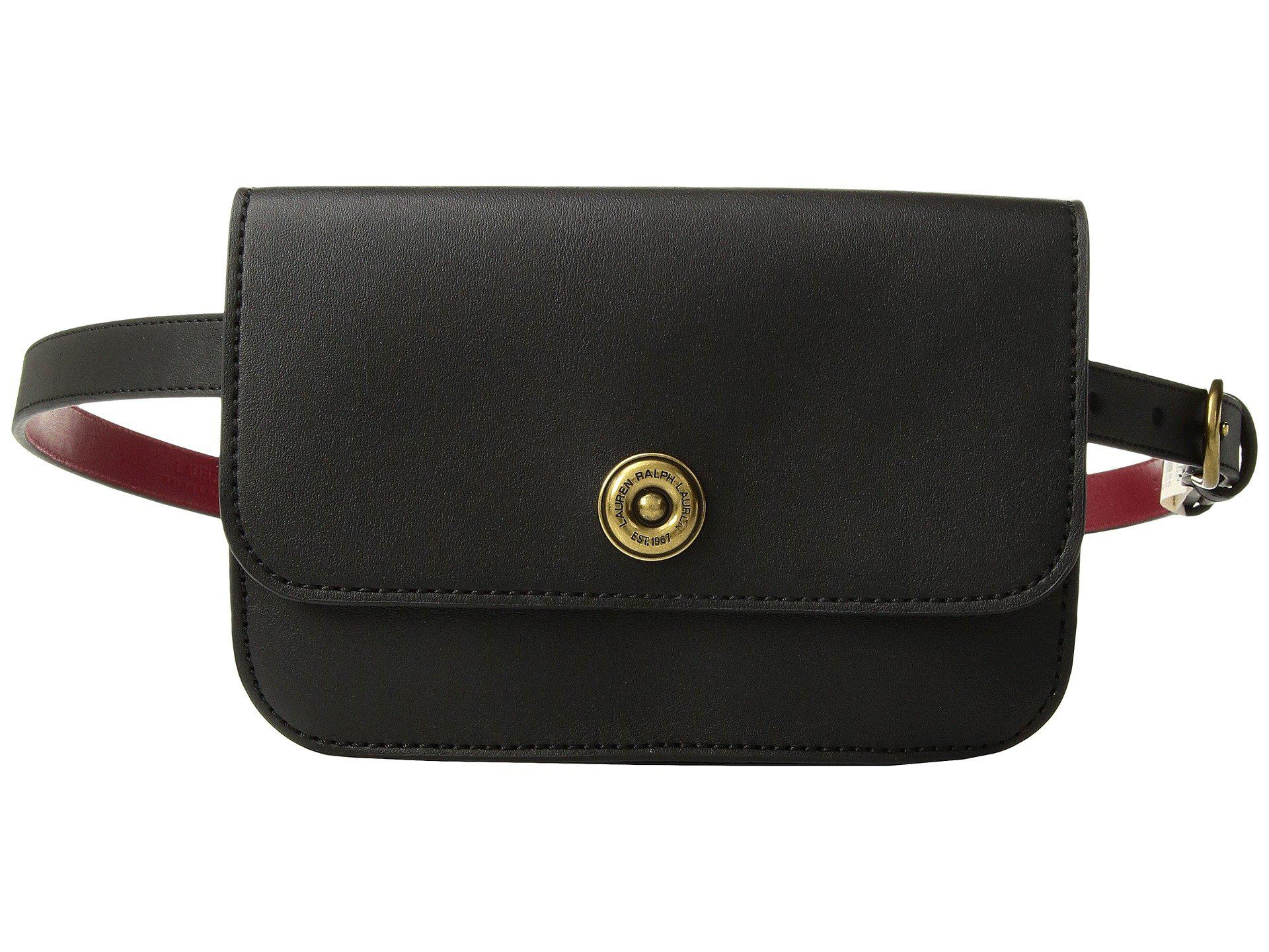2e3e44f238 Lyst - Lauren by Ralph Lauren Millbrook Belt Bag in Black
