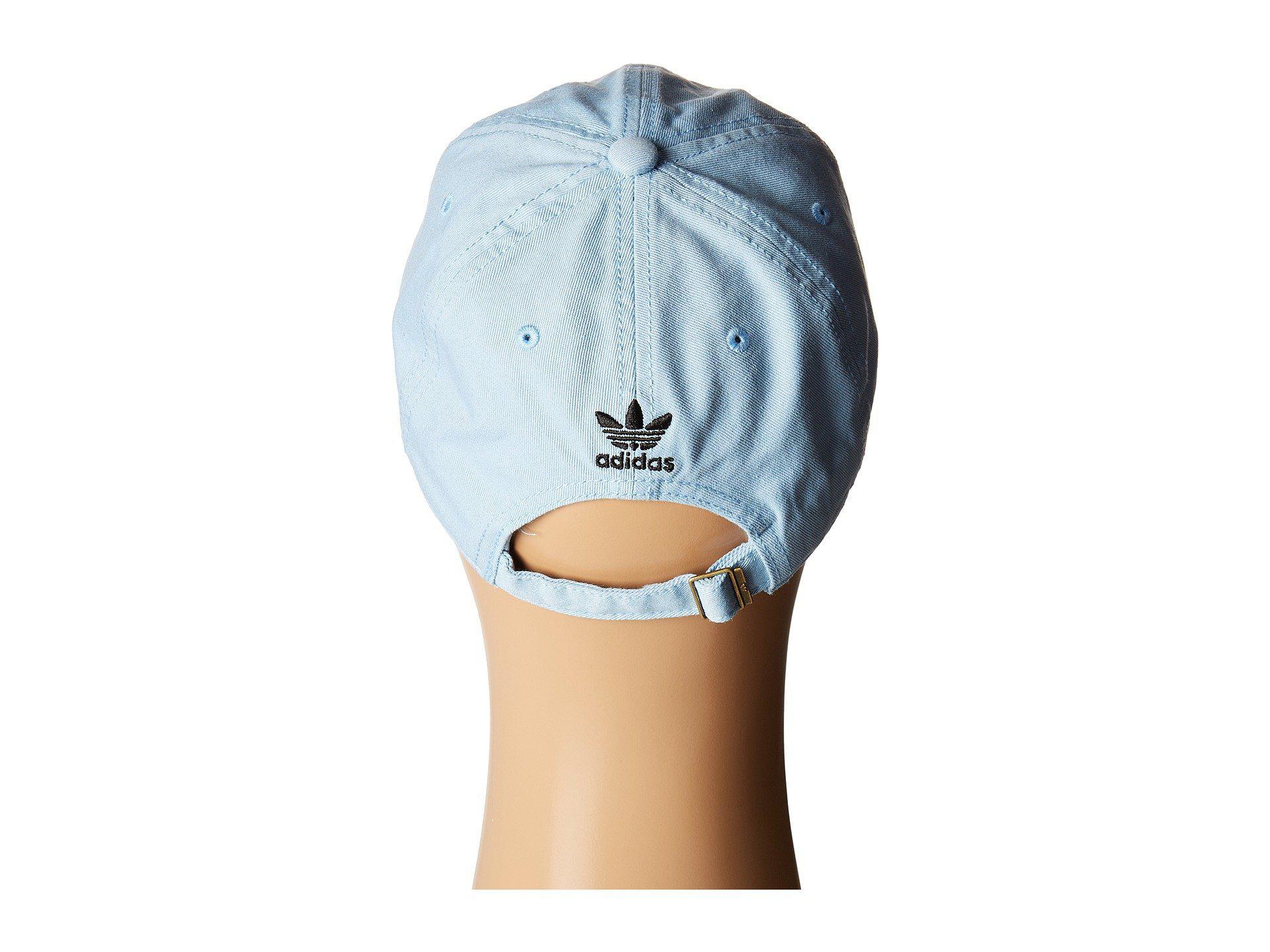 428366a5f2b Lyst - adidas Originals Originals Relaxed Strapback Hat (blue black ...